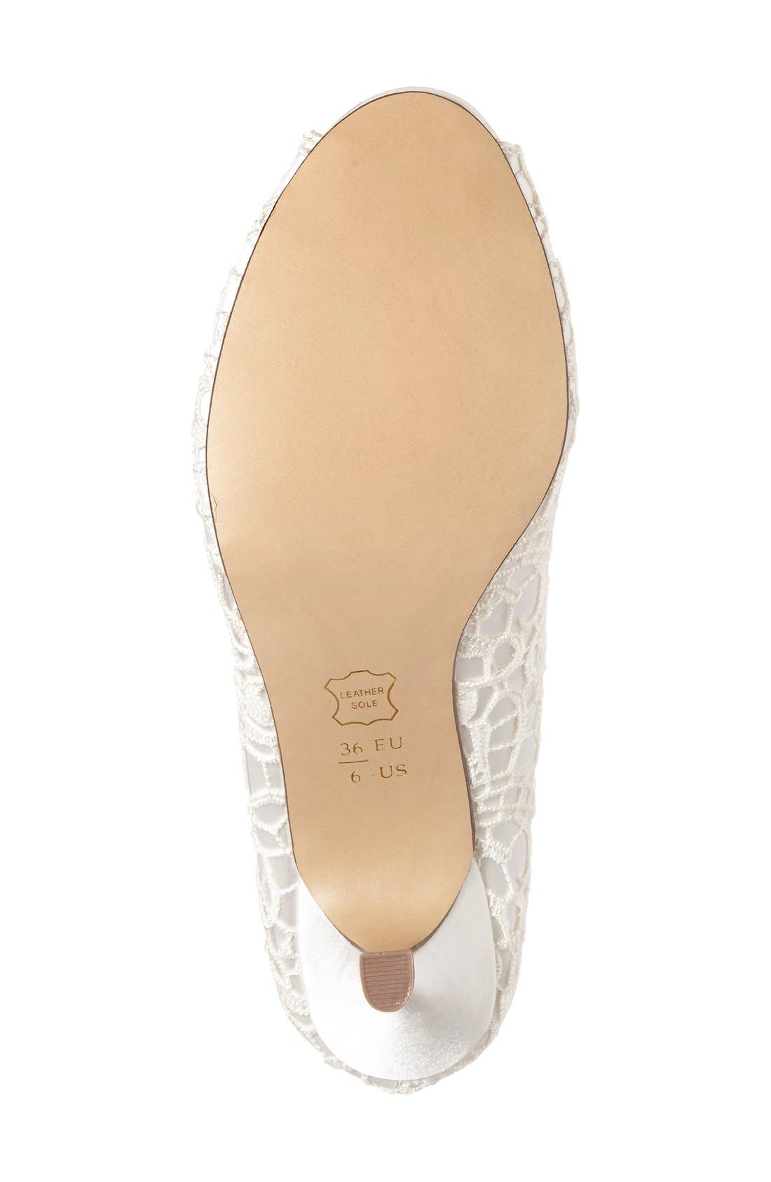 'Emotion' Peep Toe Pump,                             Alternate thumbnail 4, color,                             IVORY