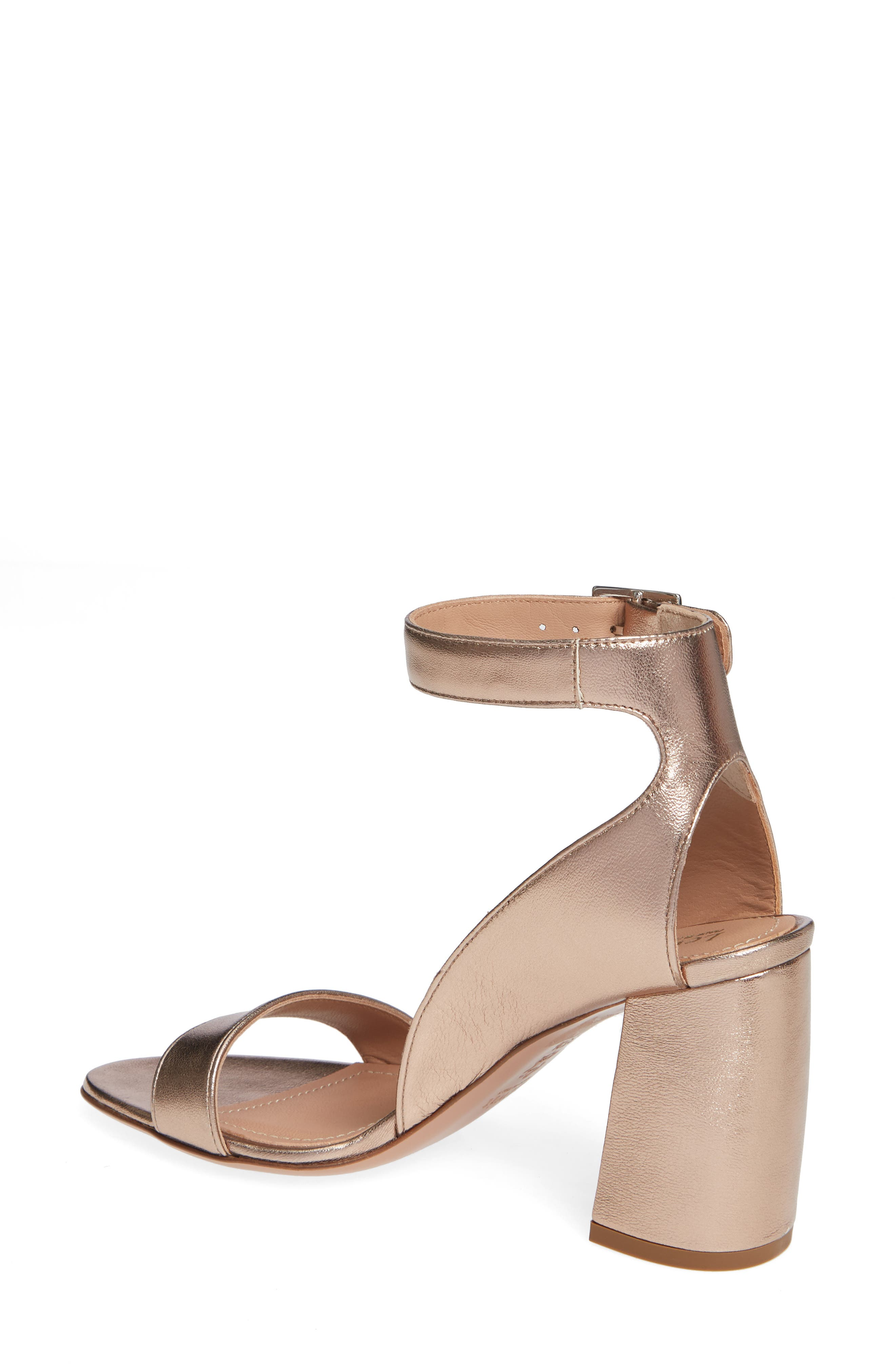 Guilia Block Heel Sandal,                             Alternate thumbnail 2, color,                             BRONZE LEATHER