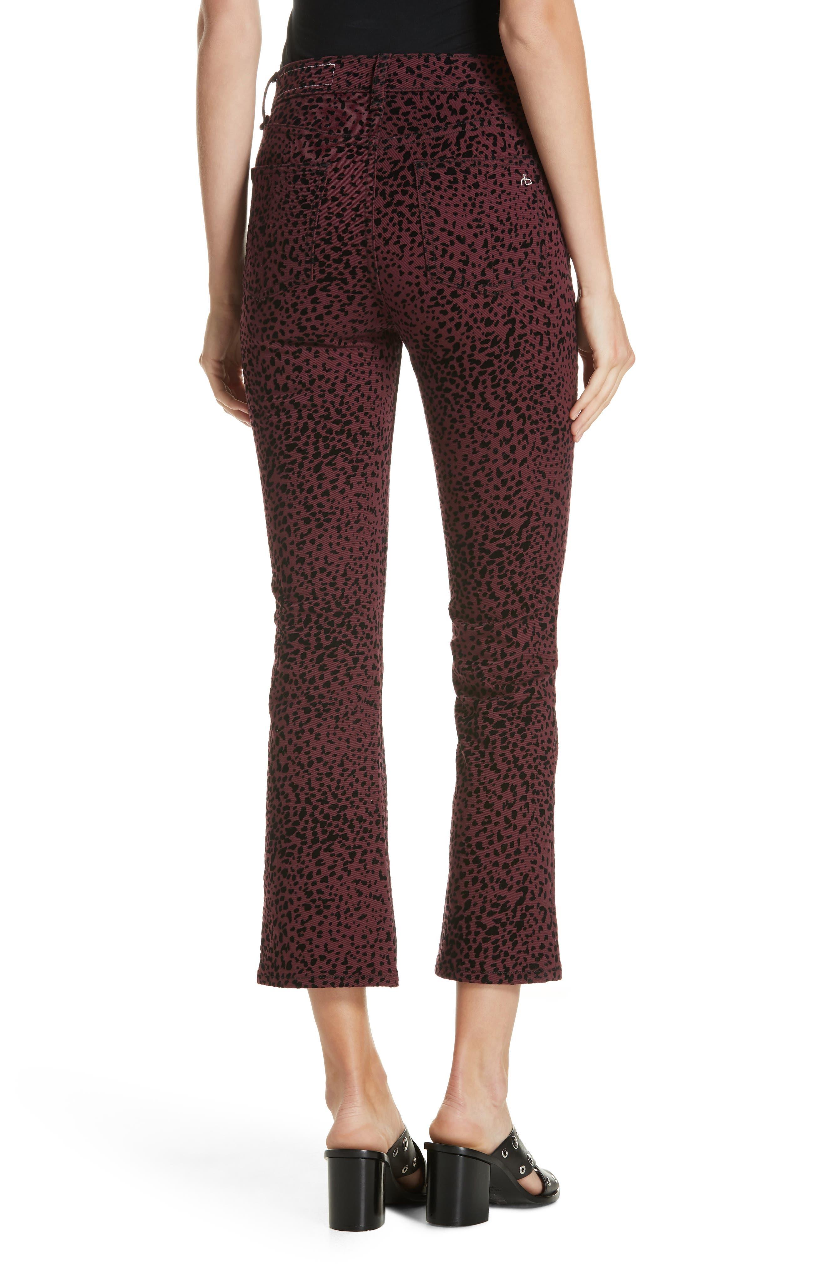 Hana High Waist Crop Flare Jeans,                             Alternate thumbnail 2, color,                             930