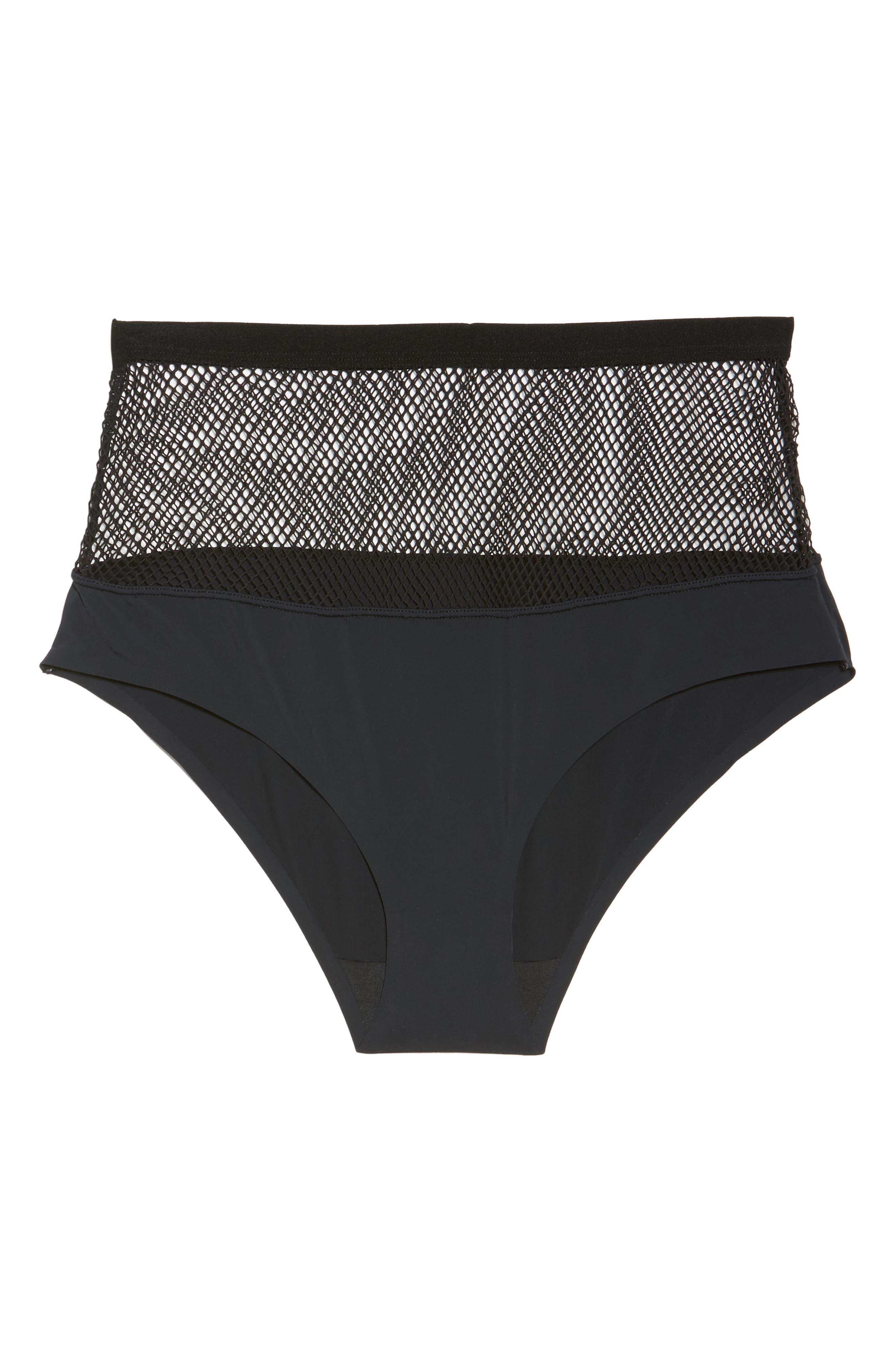 Honeydew Fishnet Hipster Panties,                             Alternate thumbnail 5, color,                             001