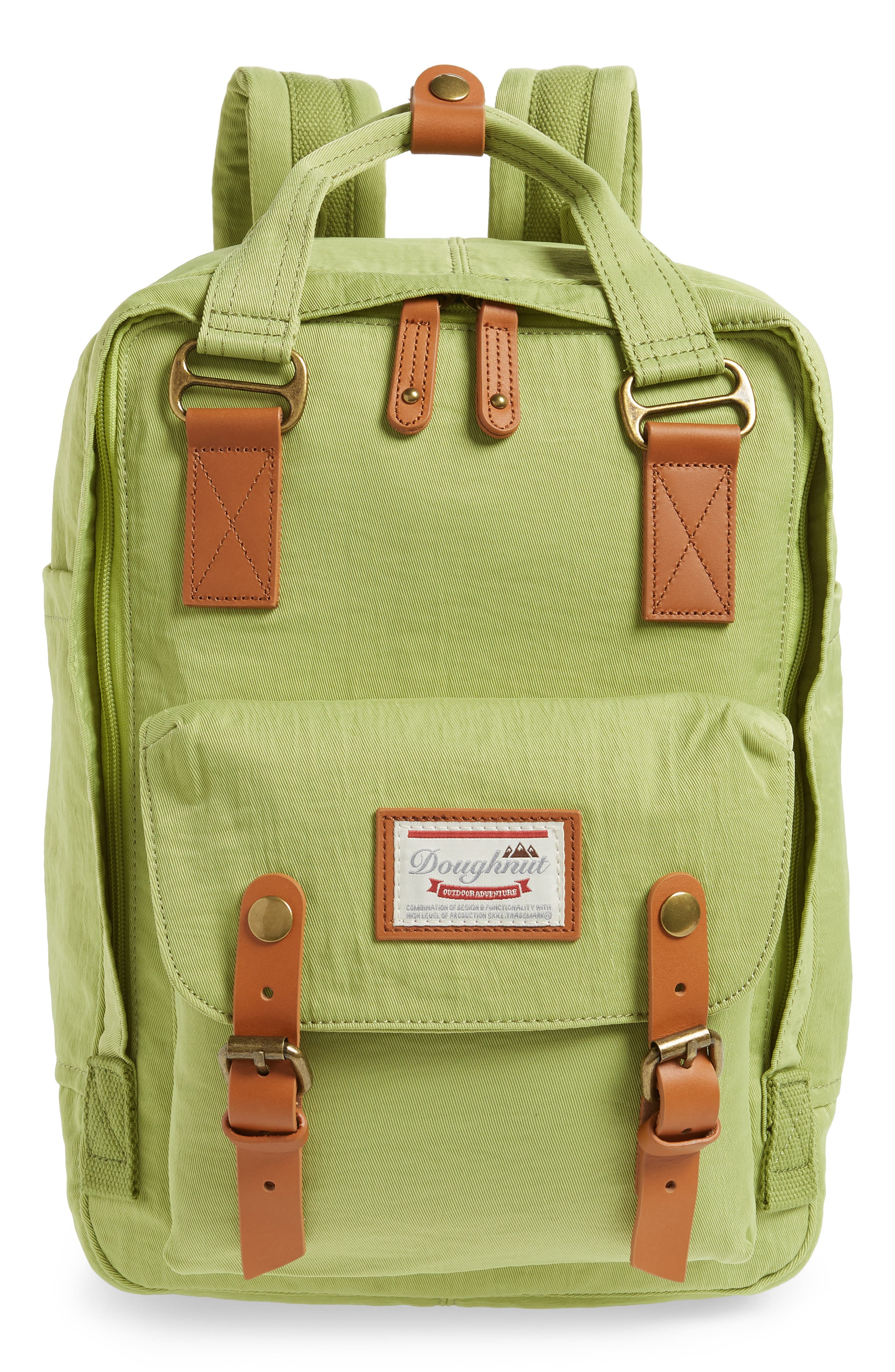 Macaroon Water Resistant Backpack,                             Main thumbnail 1, color,                             GREEN TEA