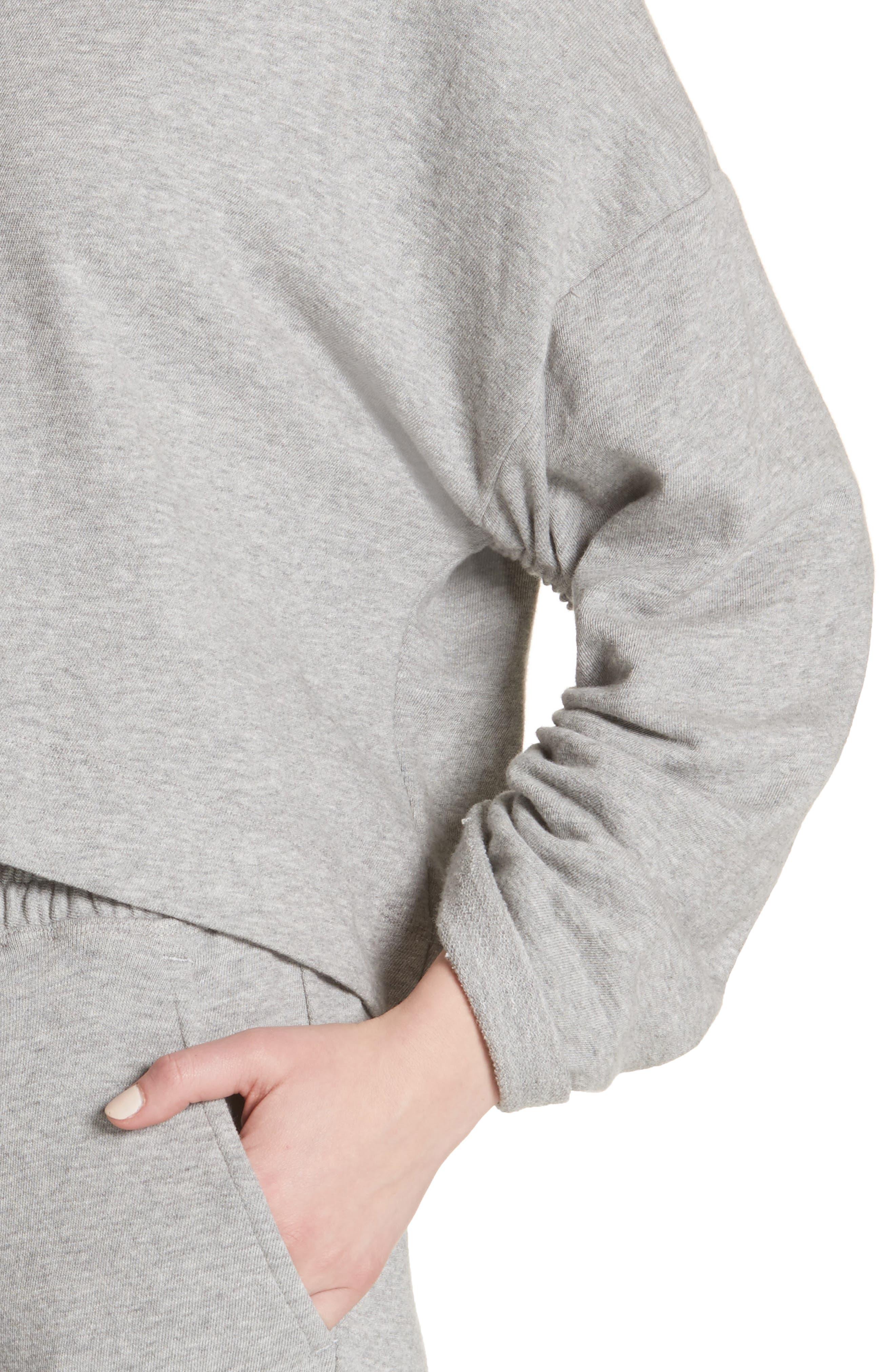 Ember Ruched Sleeve Sweatshirt,                             Alternate thumbnail 8, color,