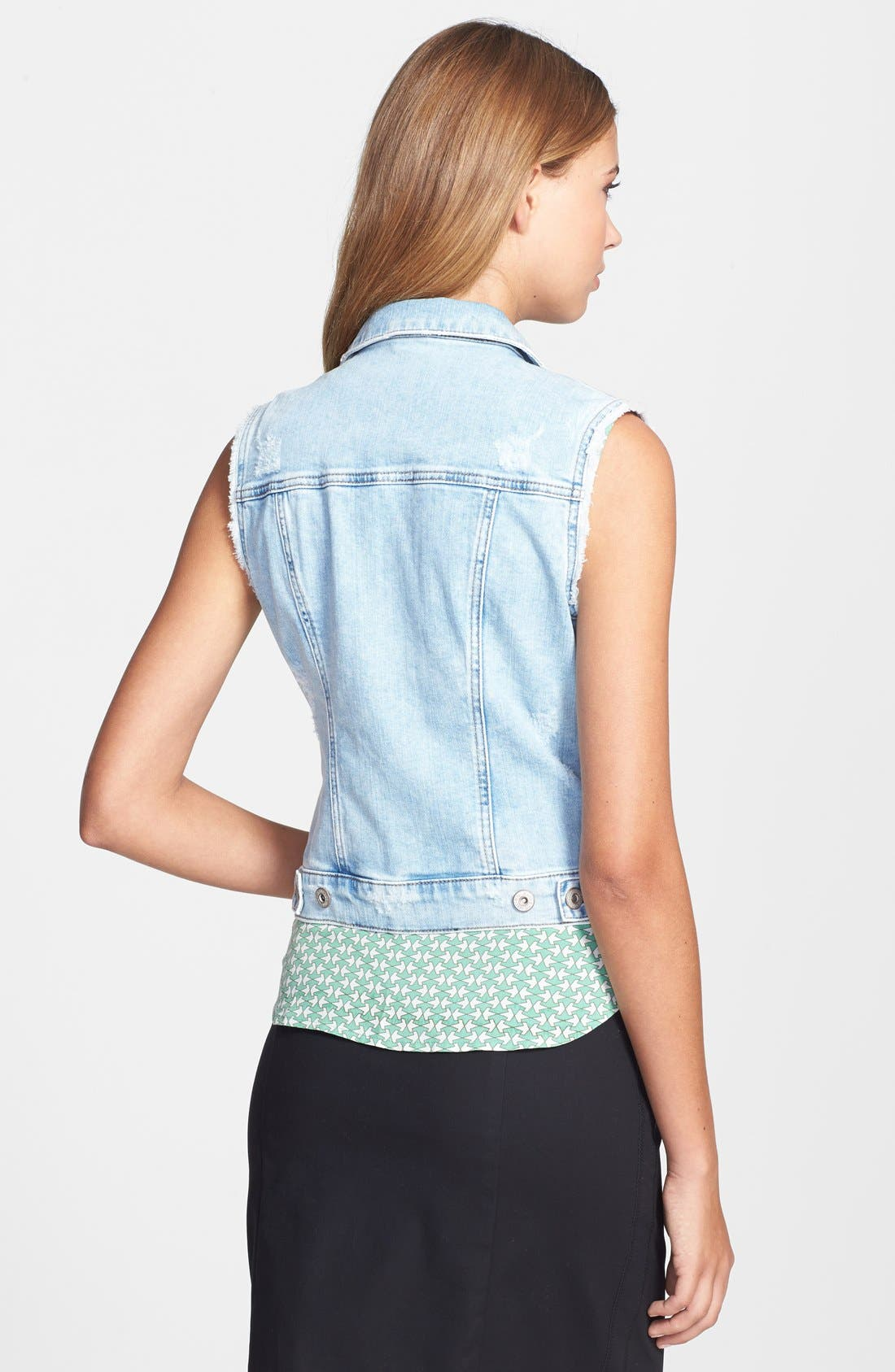 MAVI JEANS,                             'Jodi' Fitted Denim Vest,                             Alternate thumbnail 2, color,                             404