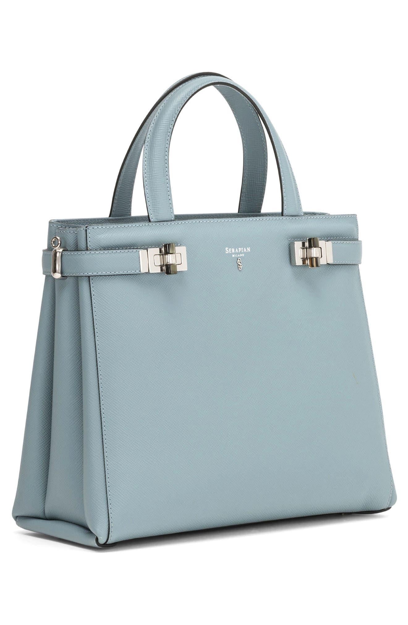 Small Meline Evolution Leather Bag,                             Alternate thumbnail 8, color,