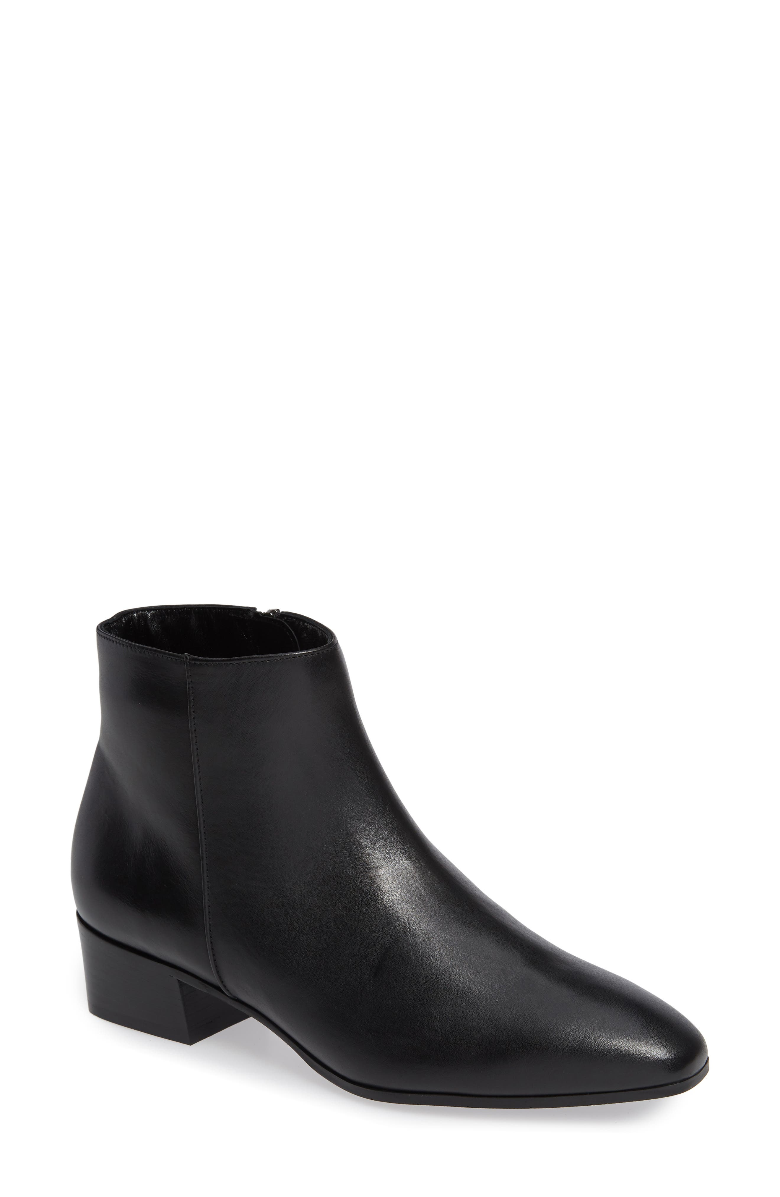 Fuoco Weatherproof Bootie,                             Main thumbnail 1, color,                             BLACK LEATHER
