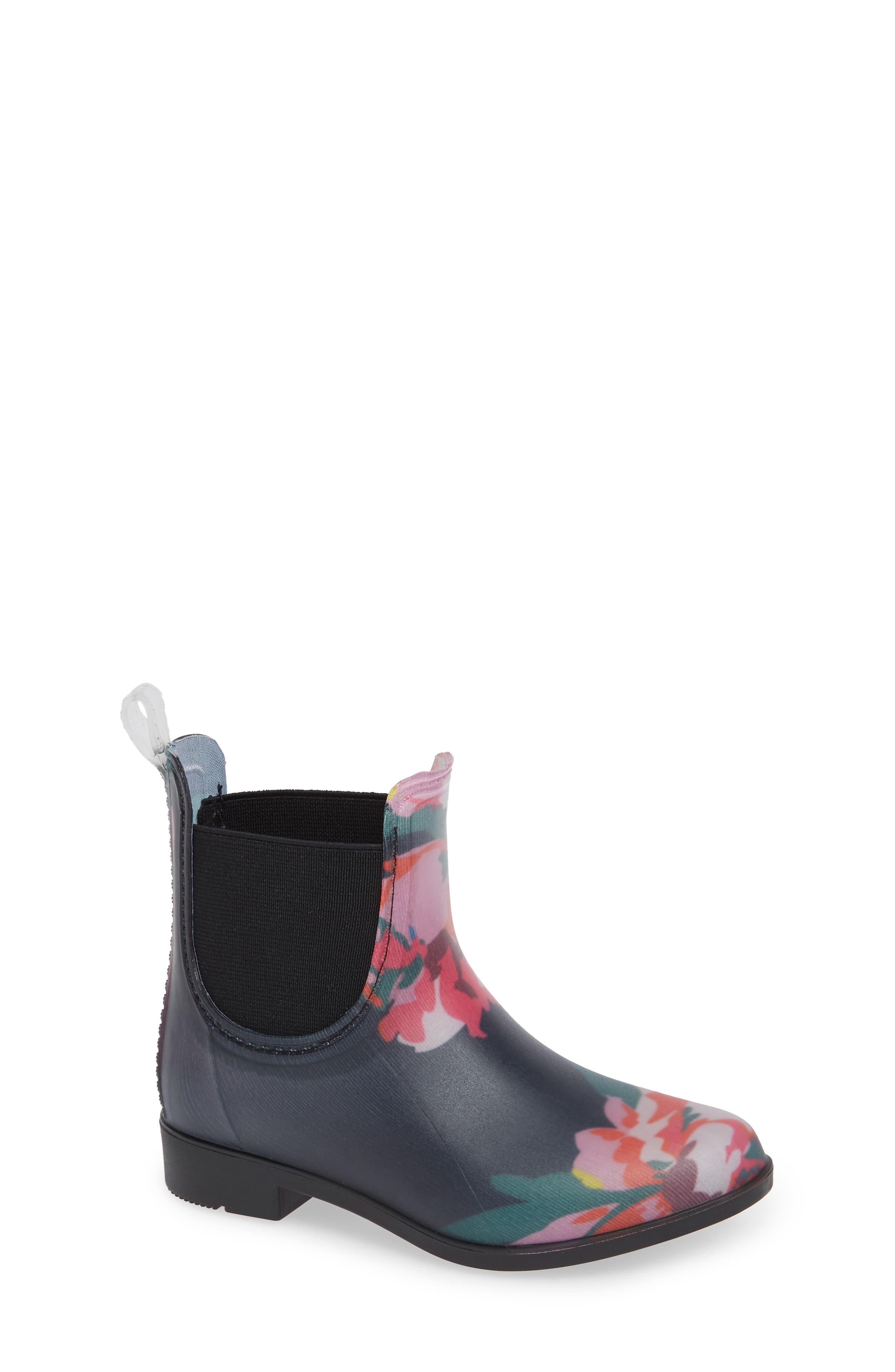 Chelsea Rain Boot, Main, color, NAVY GRANNY FLORAL