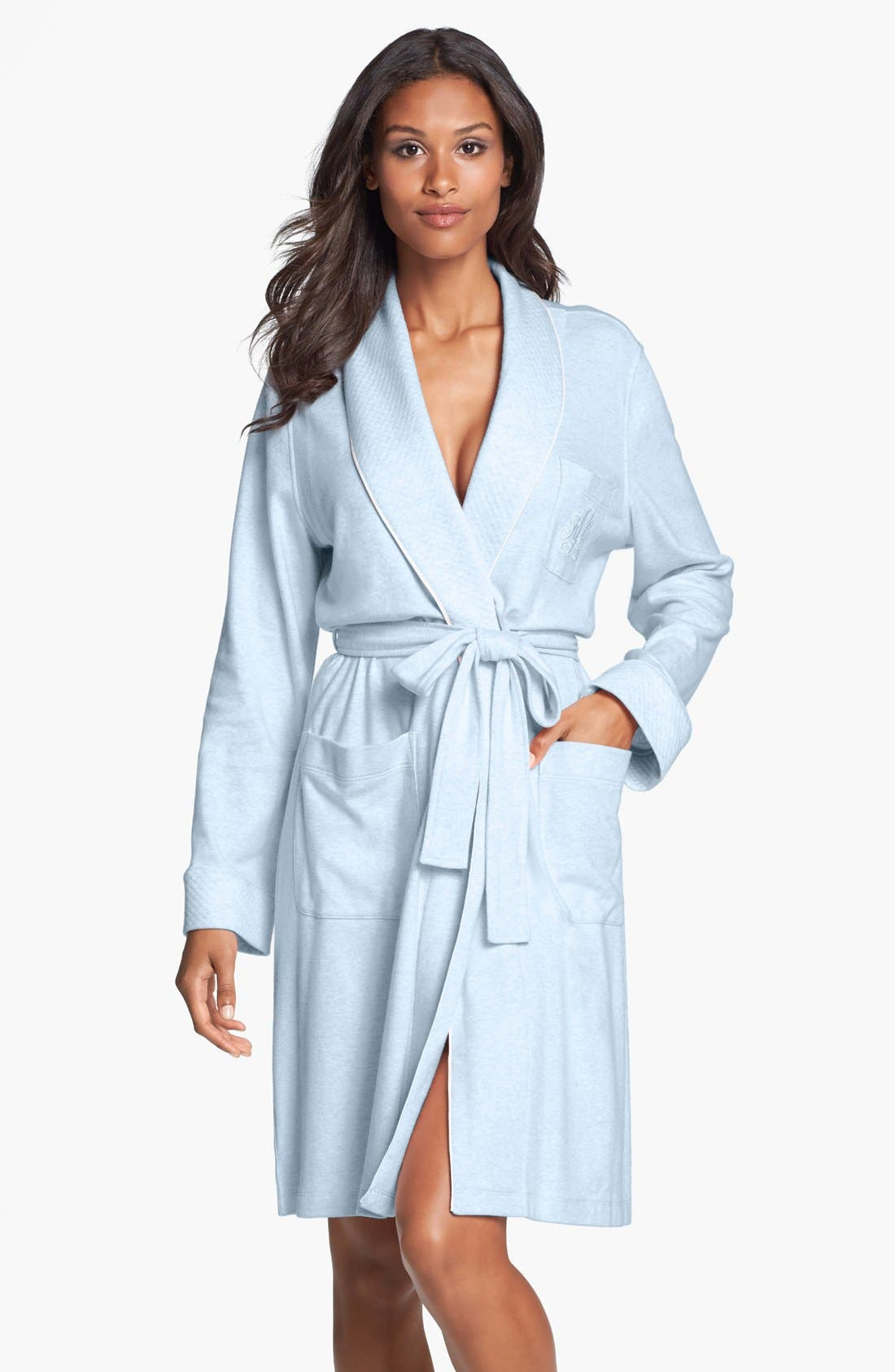 Waffle Weave Robe, Main, color, 450