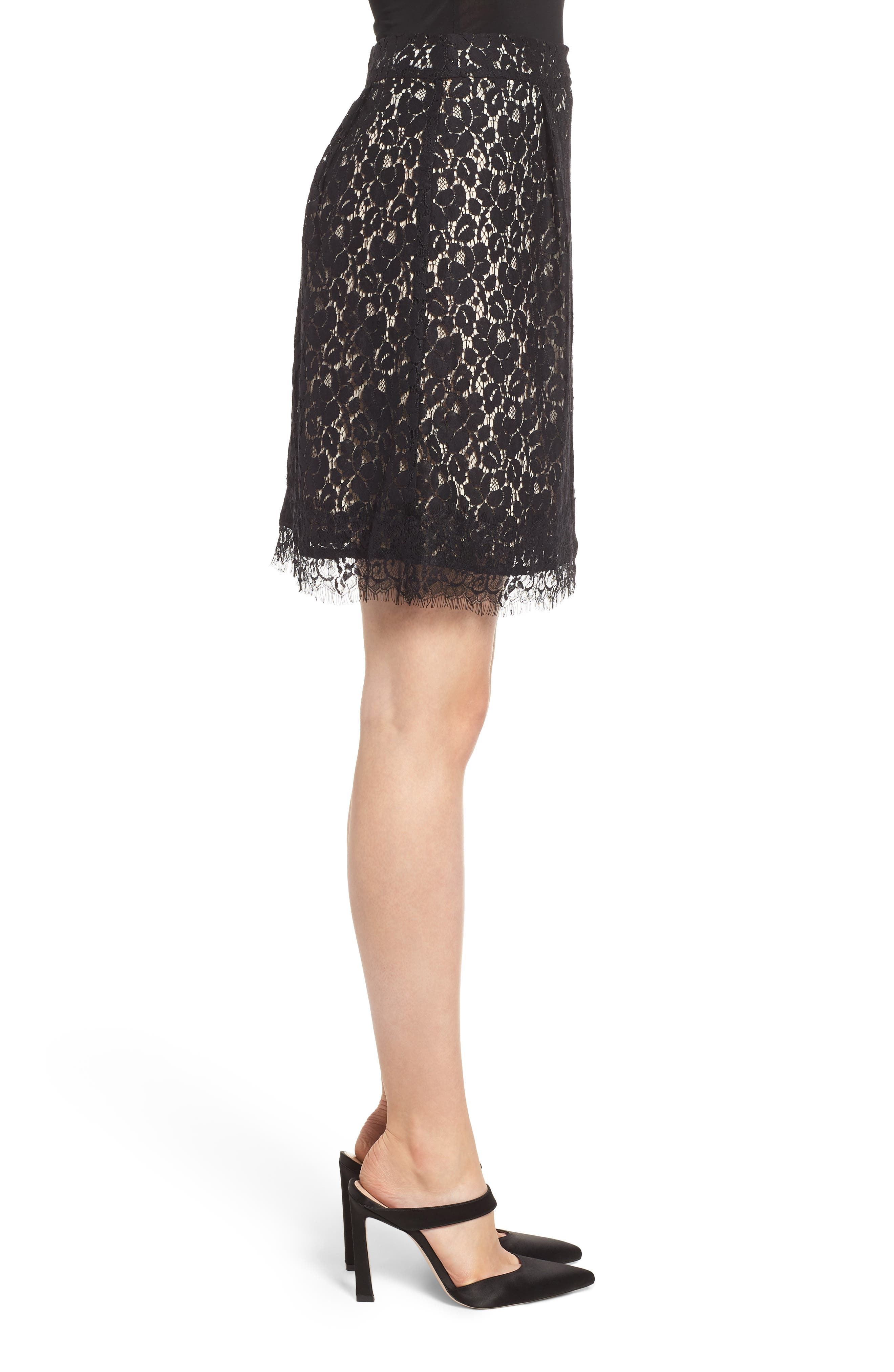 GIBSON,                             x Glam Squad Lace Skirt,                             Alternate thumbnail 4, color,                             017