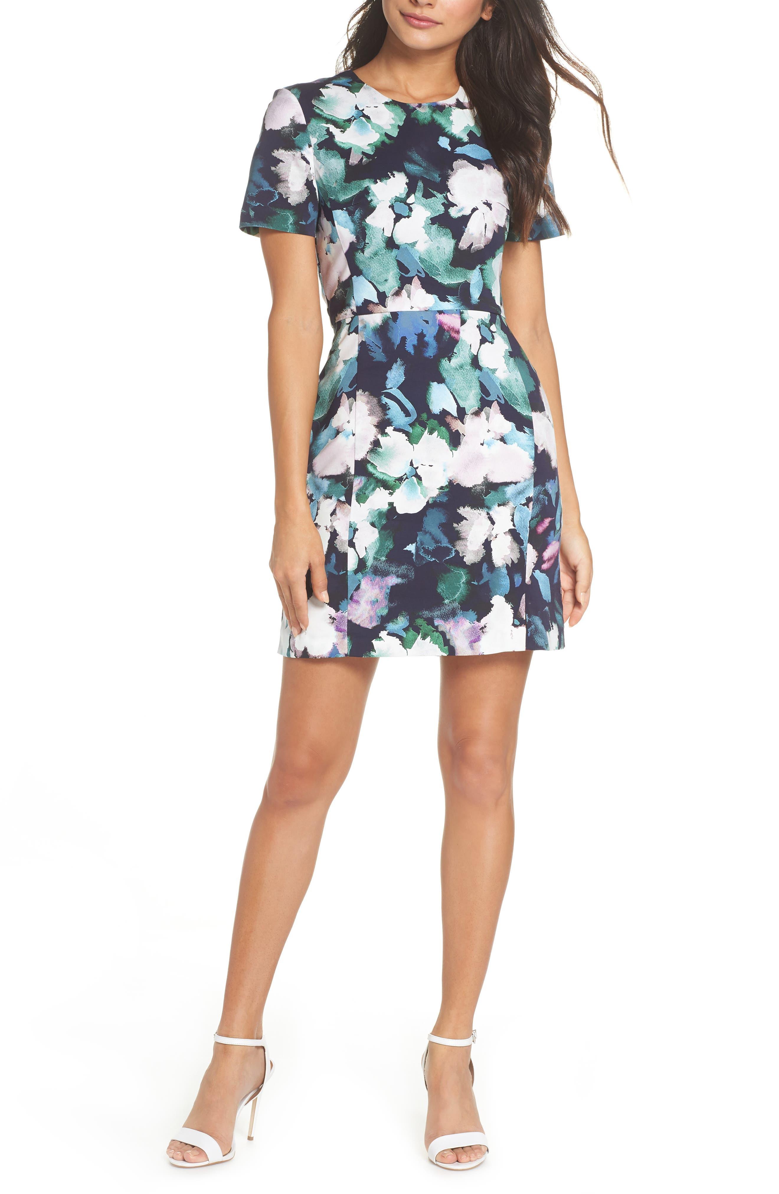 Eleanor Sheath Dress,                         Main,                         color, UTILITY MULTI