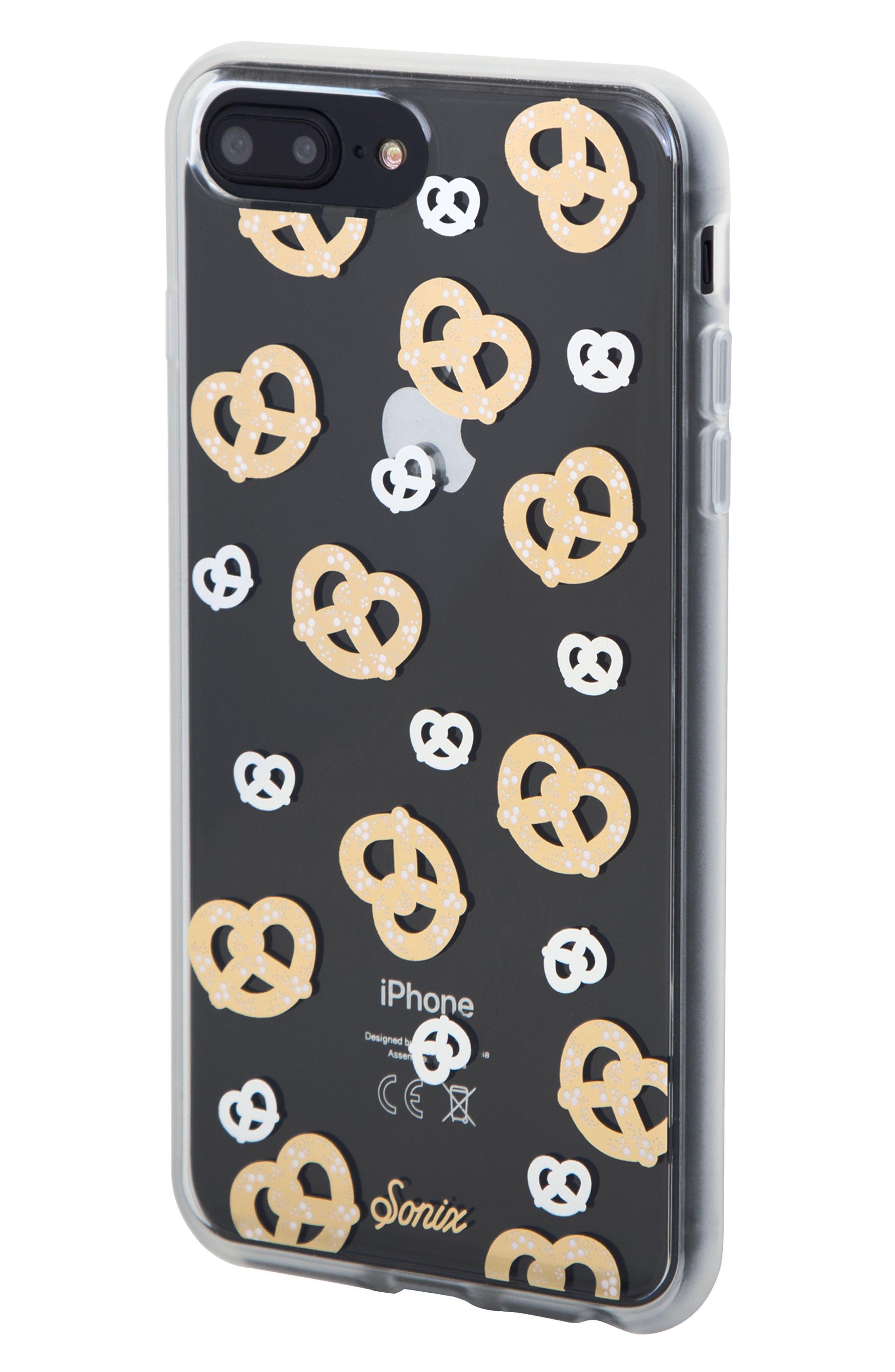 Pretzel iPhone 6/6s/7/8 & 6/6s/7/8 Plus Case,                             Alternate thumbnail 2, color,                             GOLD/ SILVER