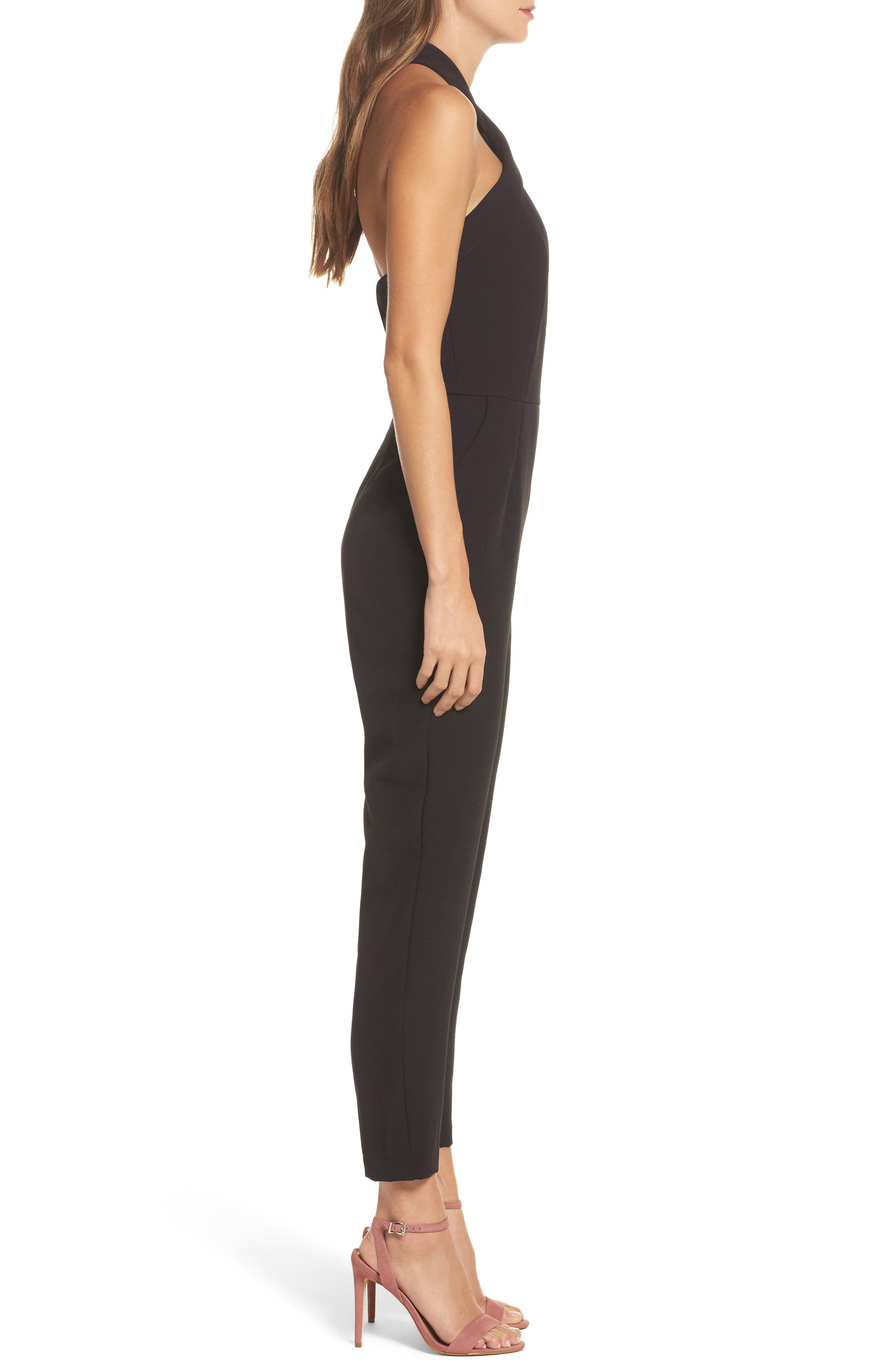 Halter Jumpsuit,                             Alternate thumbnail 5, color,