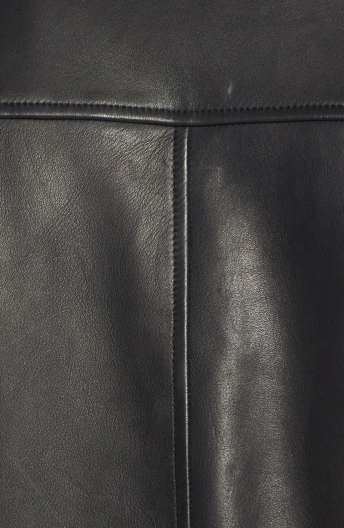 'Morvek L.Kelleher' Sheepskin Leather Jacket,                             Alternate thumbnail 3, color,                             BLACK