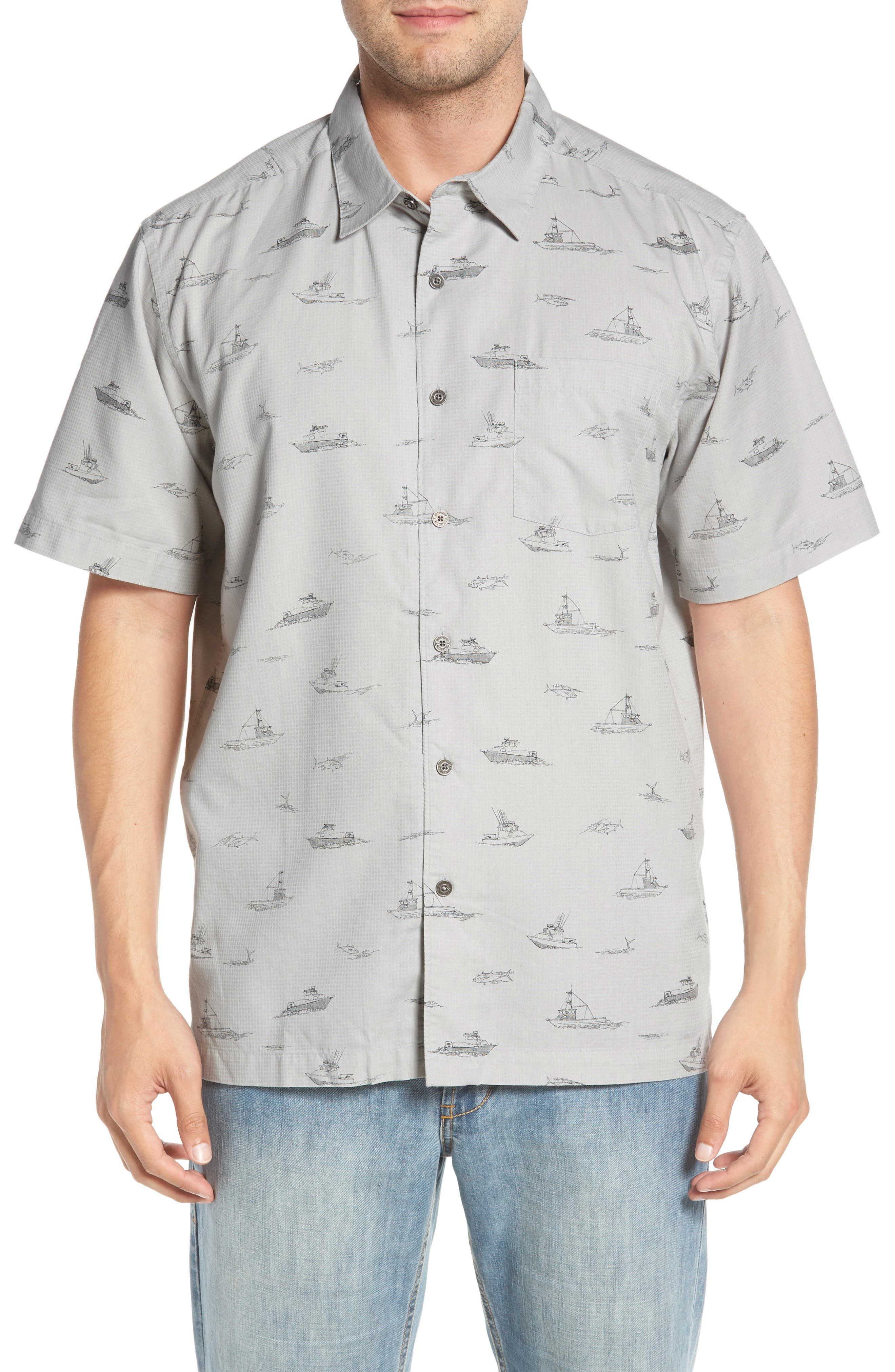 Channel Cruising Classic Fit Sport Shirt,                         Main,                         color, HIGHRISE