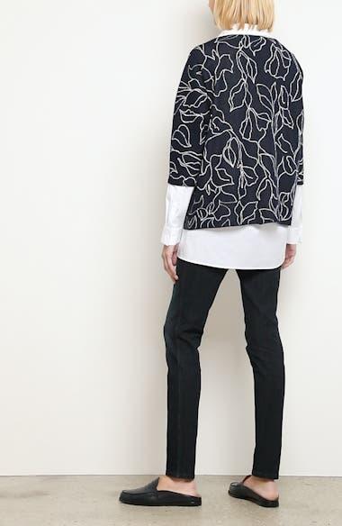 Chain Detail Floral Jacquard Sweater, video thumbnail