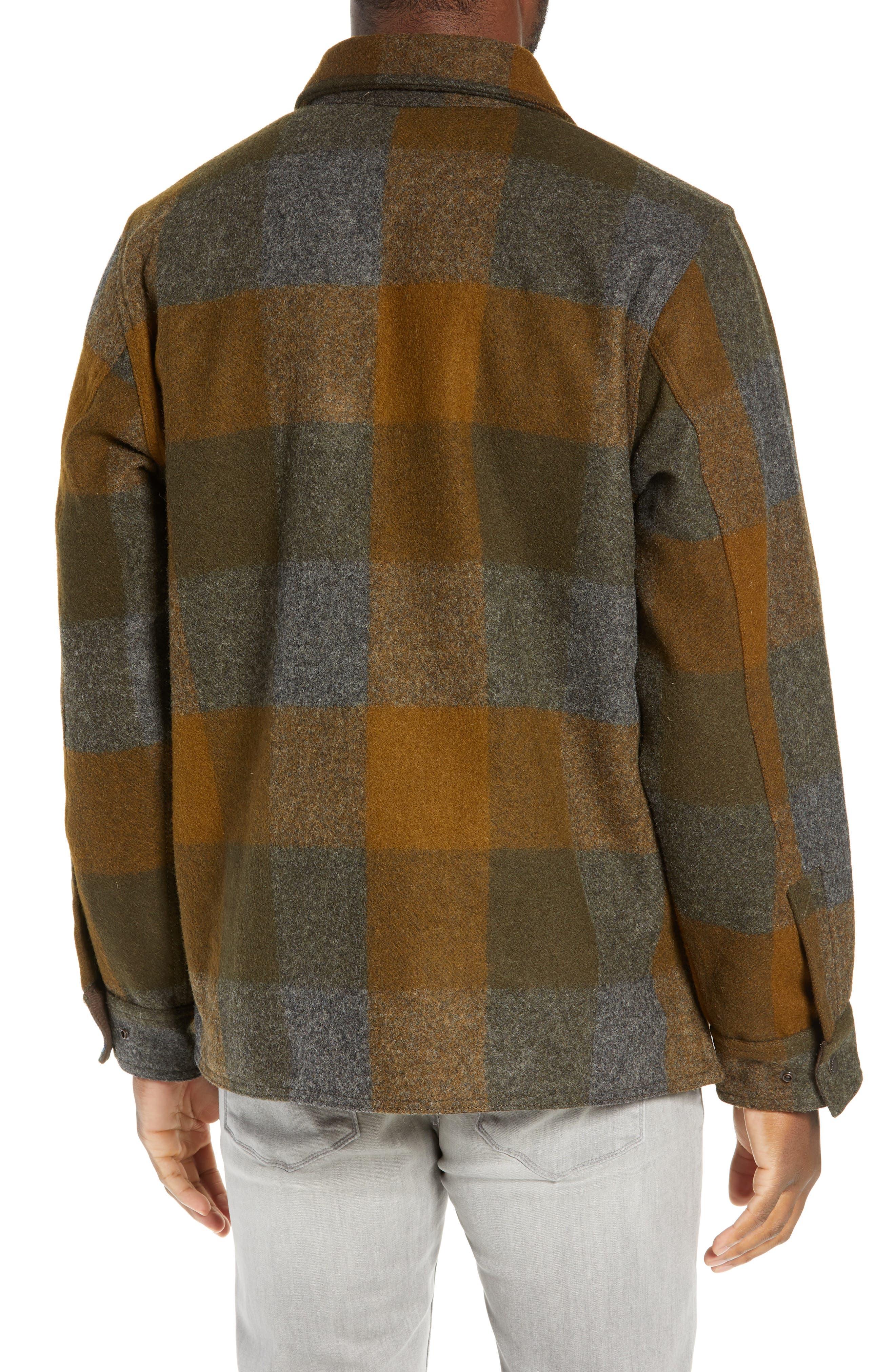 Mackinaw Plaid Wool Flannel Shirt Jacket,                             Alternate thumbnail 2, color,                             233