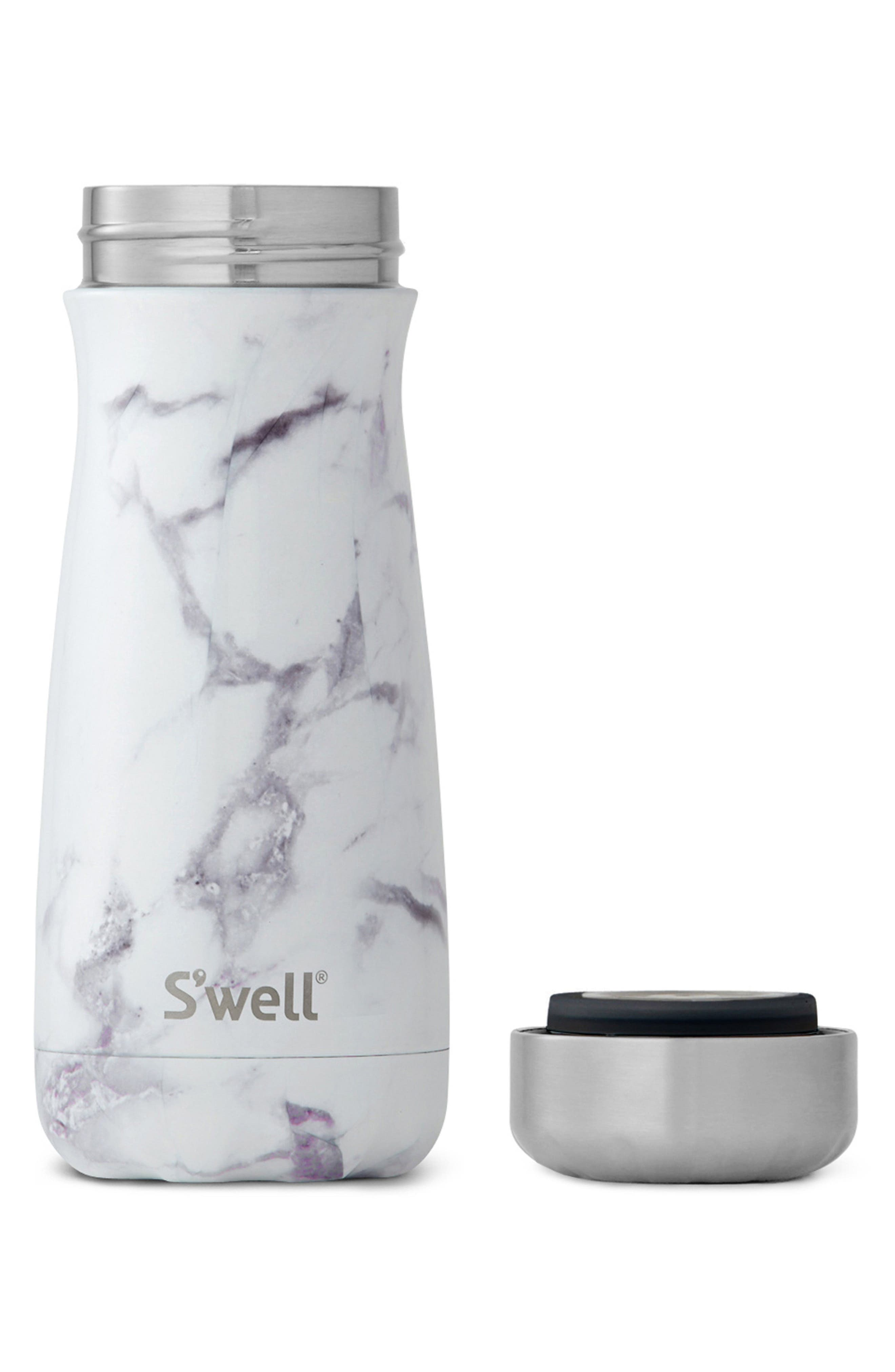 Traveler White Marble Insulated Stainless Steel Water Bottle,                             Alternate thumbnail 2, color,                             WHITE MARBLE