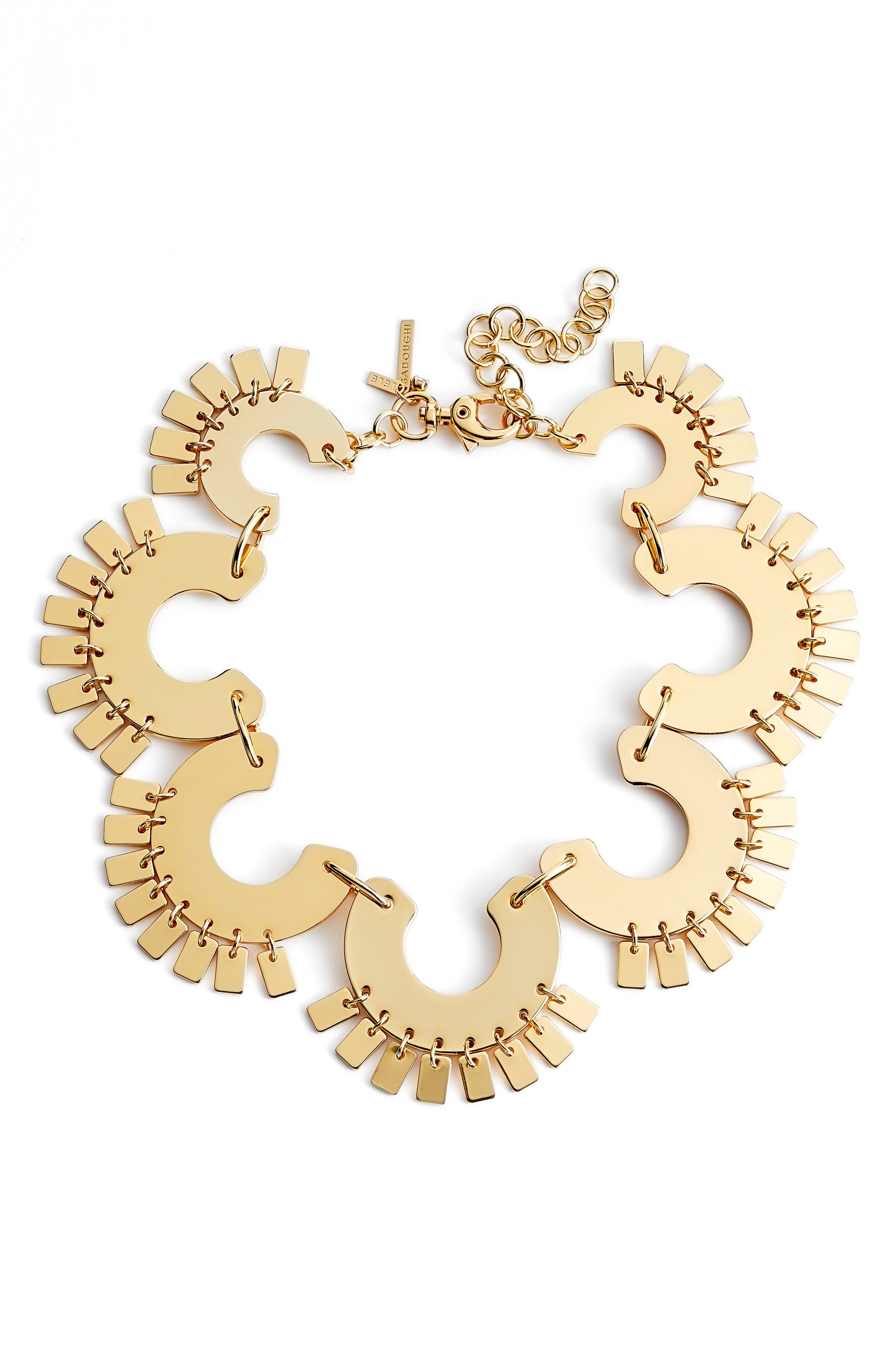 Piñata Collar Necklace,                         Main,                         color, GOLD