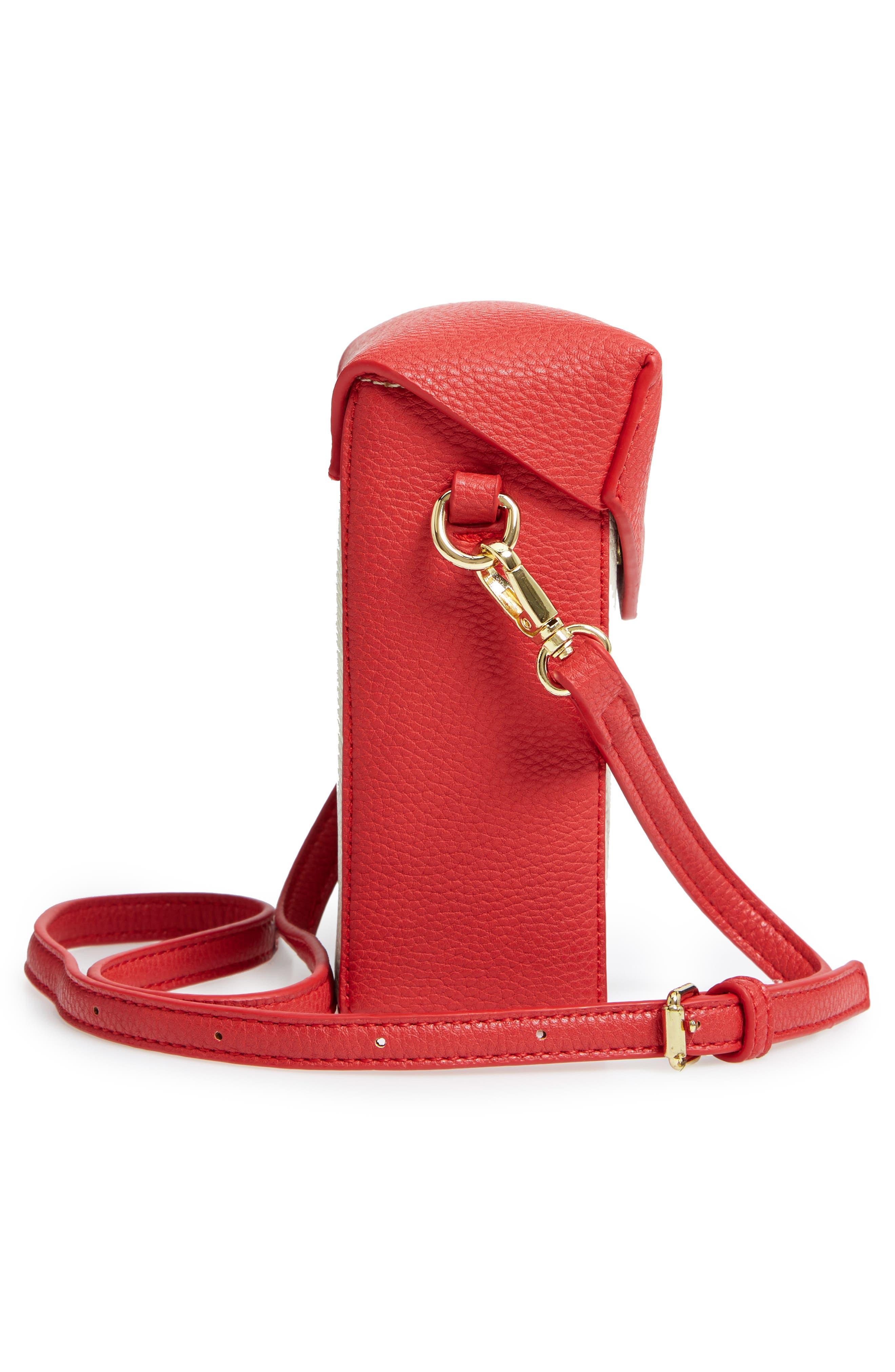 JULES KAE,                             Tabitha Faux Leather Crossbody Bag,                             Alternate thumbnail 5, color,                             100