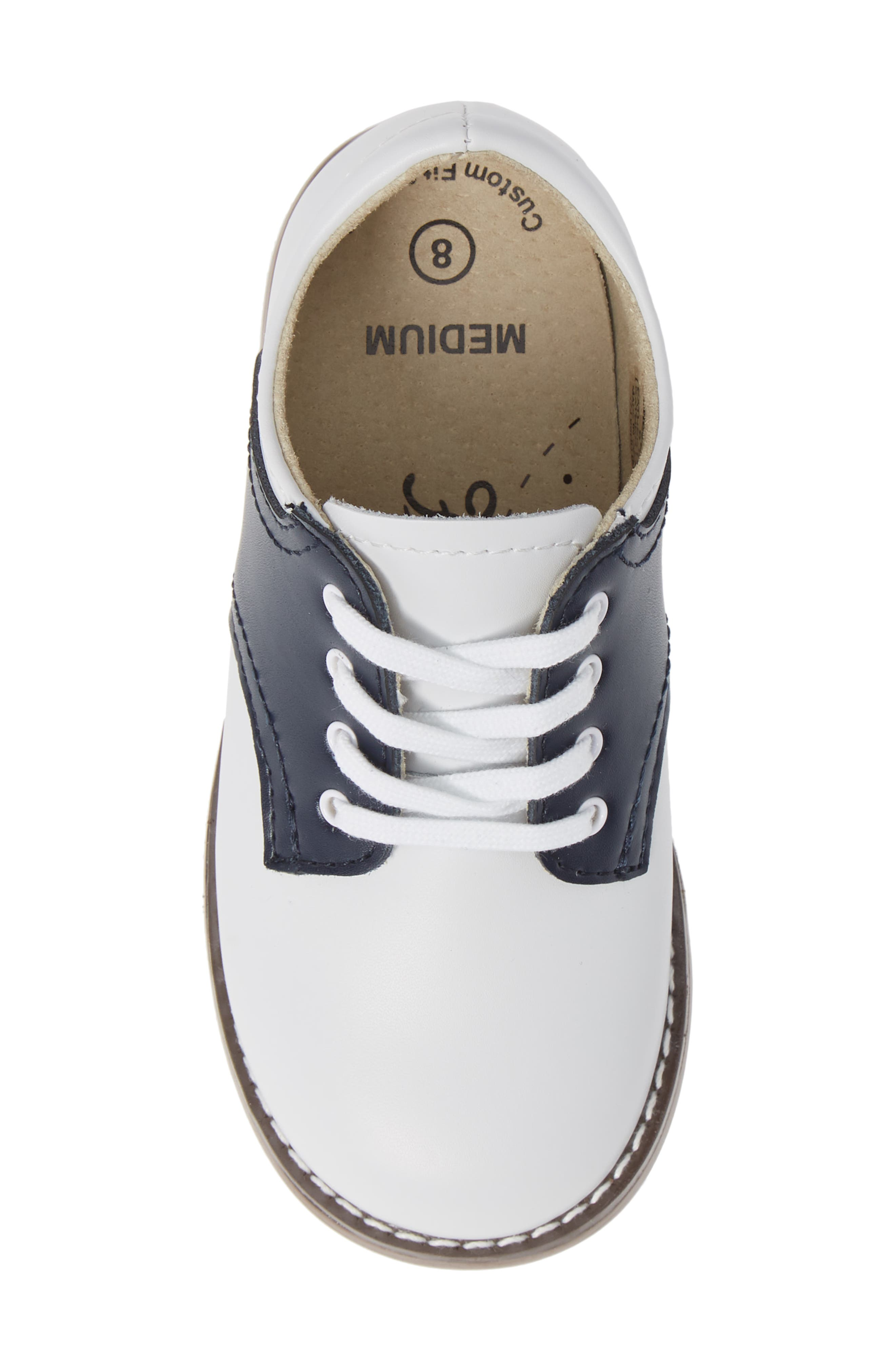 FOOTMATES,                             Cheer Oxford,                             Alternate thumbnail 5, color,                             WHITE/ NAVY