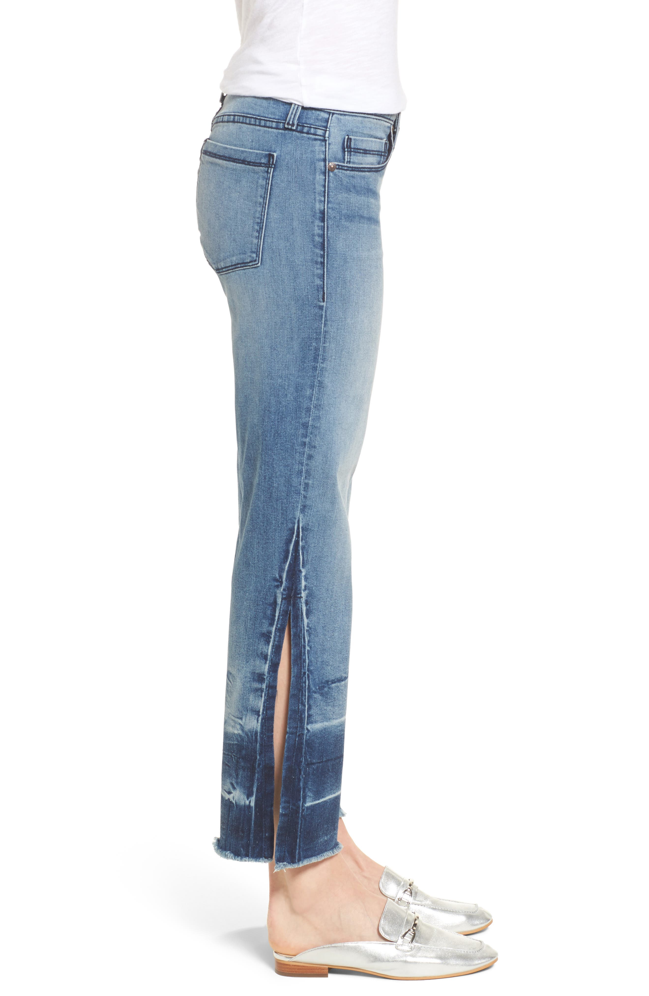 Off-Beat Crop Flare Jeans,                             Alternate thumbnail 3, color,                             424