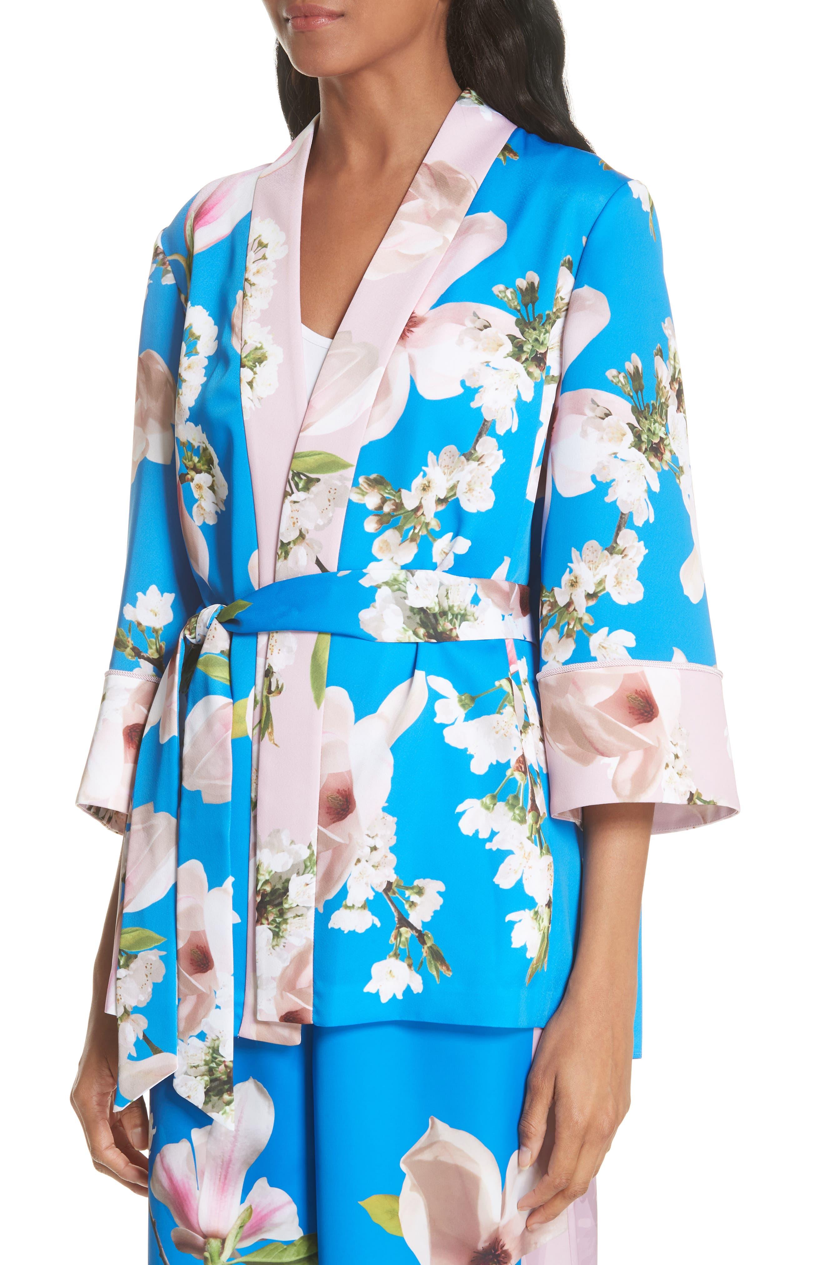 Harmony Pleat Back Kimono Jacket,                             Alternate thumbnail 4, color,