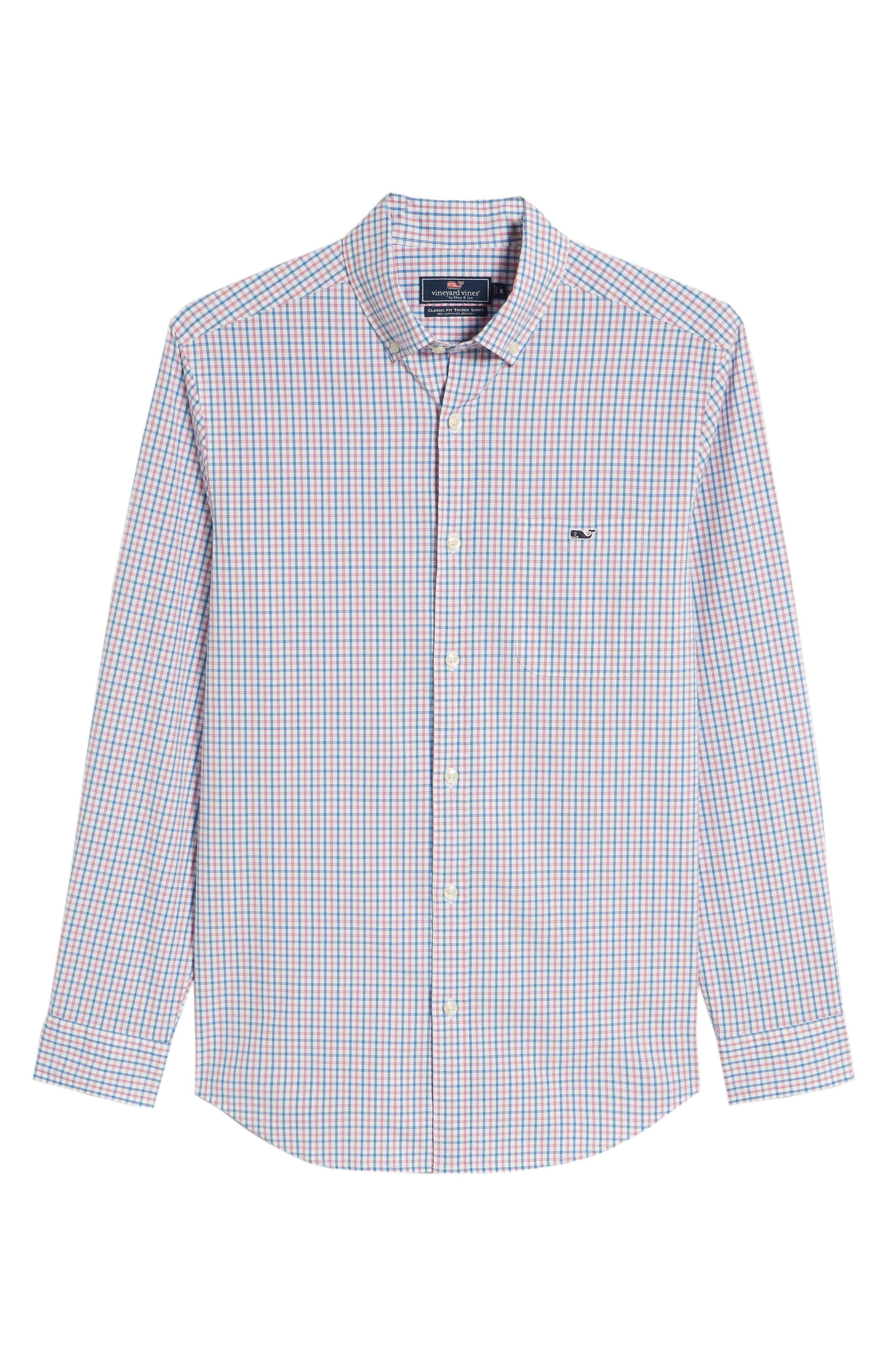 Clark Cove Tucker Classic Fit Check Sport Shirt,                             Alternate thumbnail 23, color,