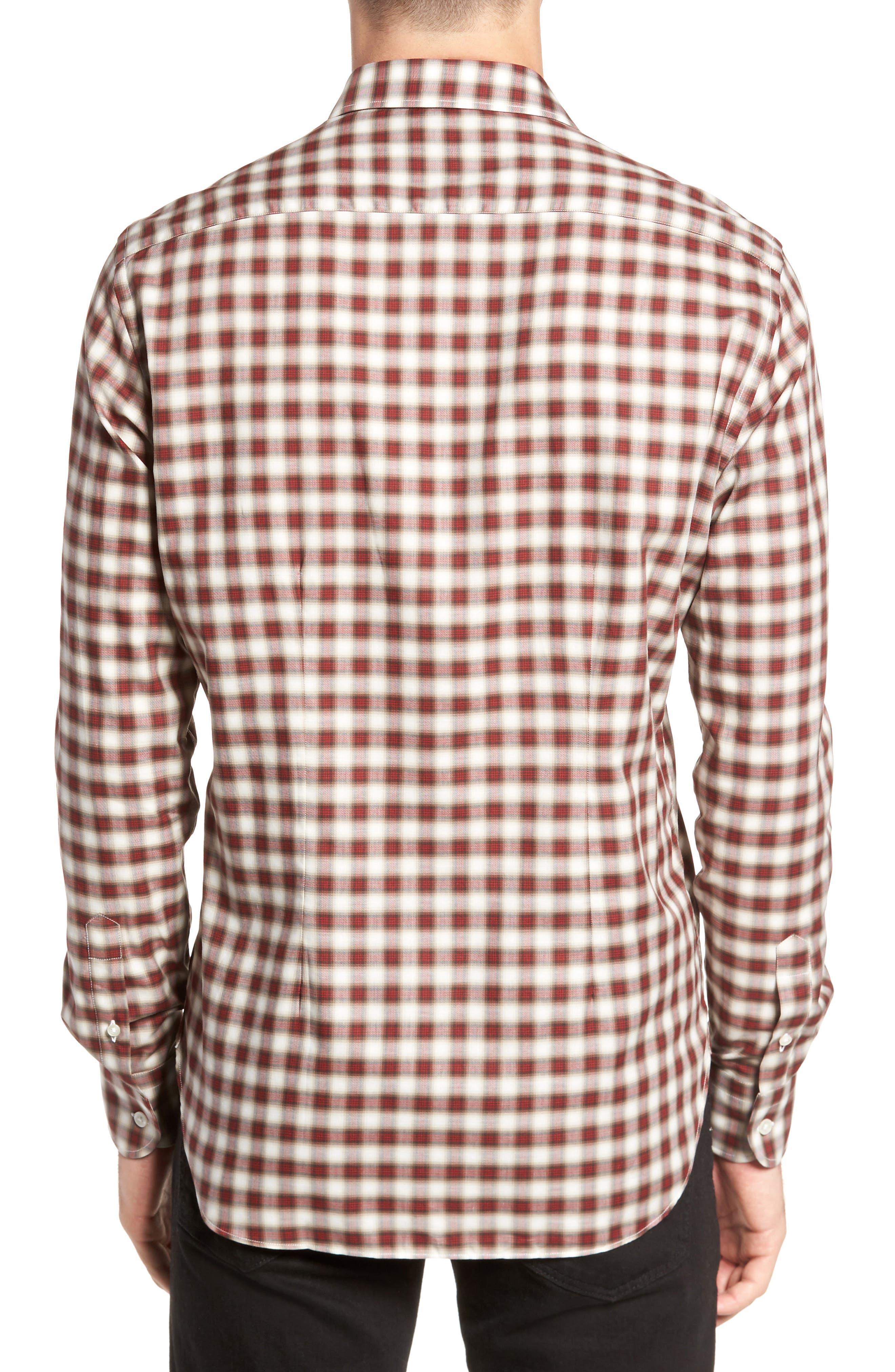 Vintage Plaid Sport Shirt,                             Alternate thumbnail 2, color,