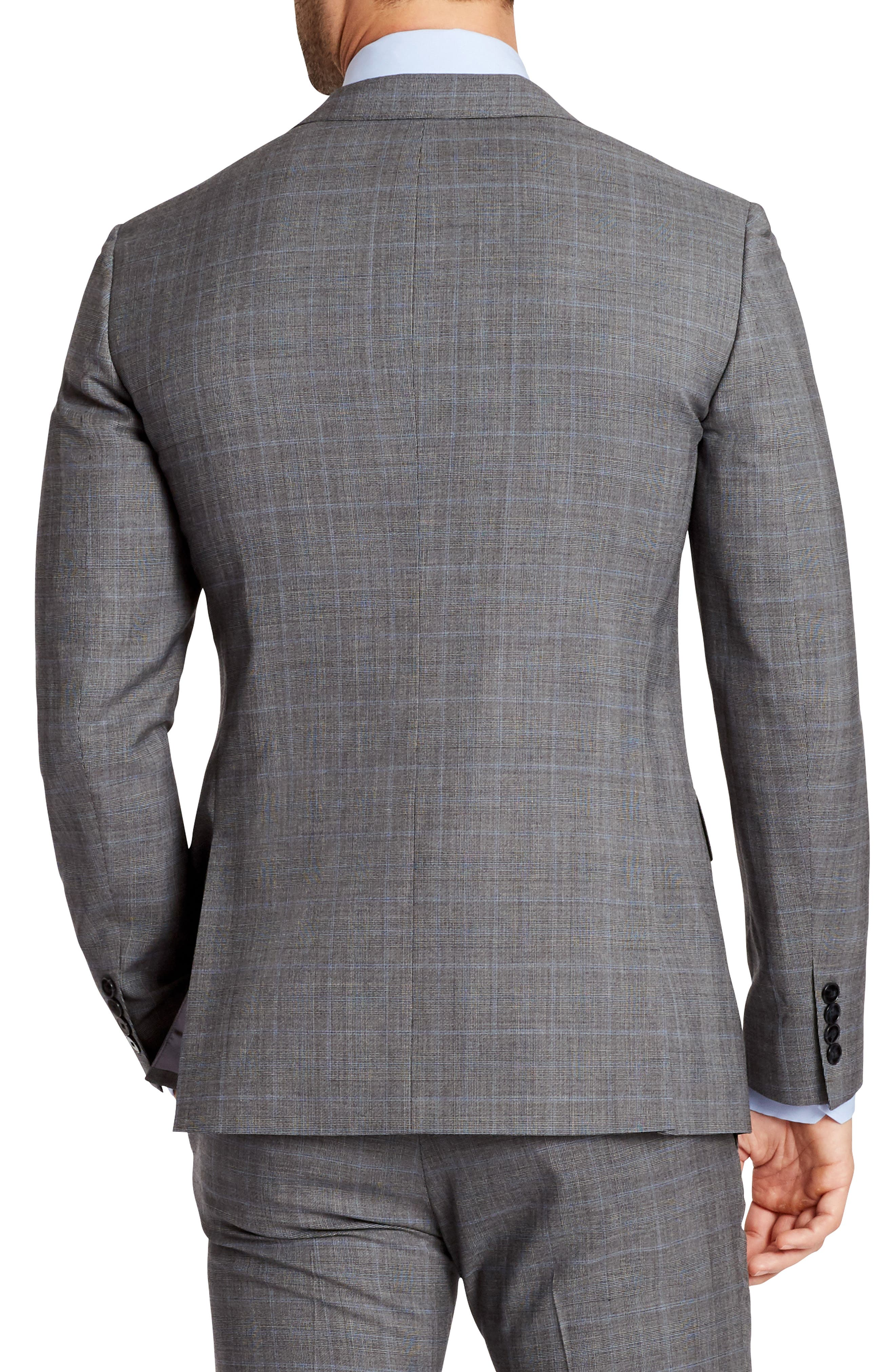 Jetsetter Slim Fit Plaid Stretch Wool Sport Coat,                             Alternate thumbnail 2, color,                             020