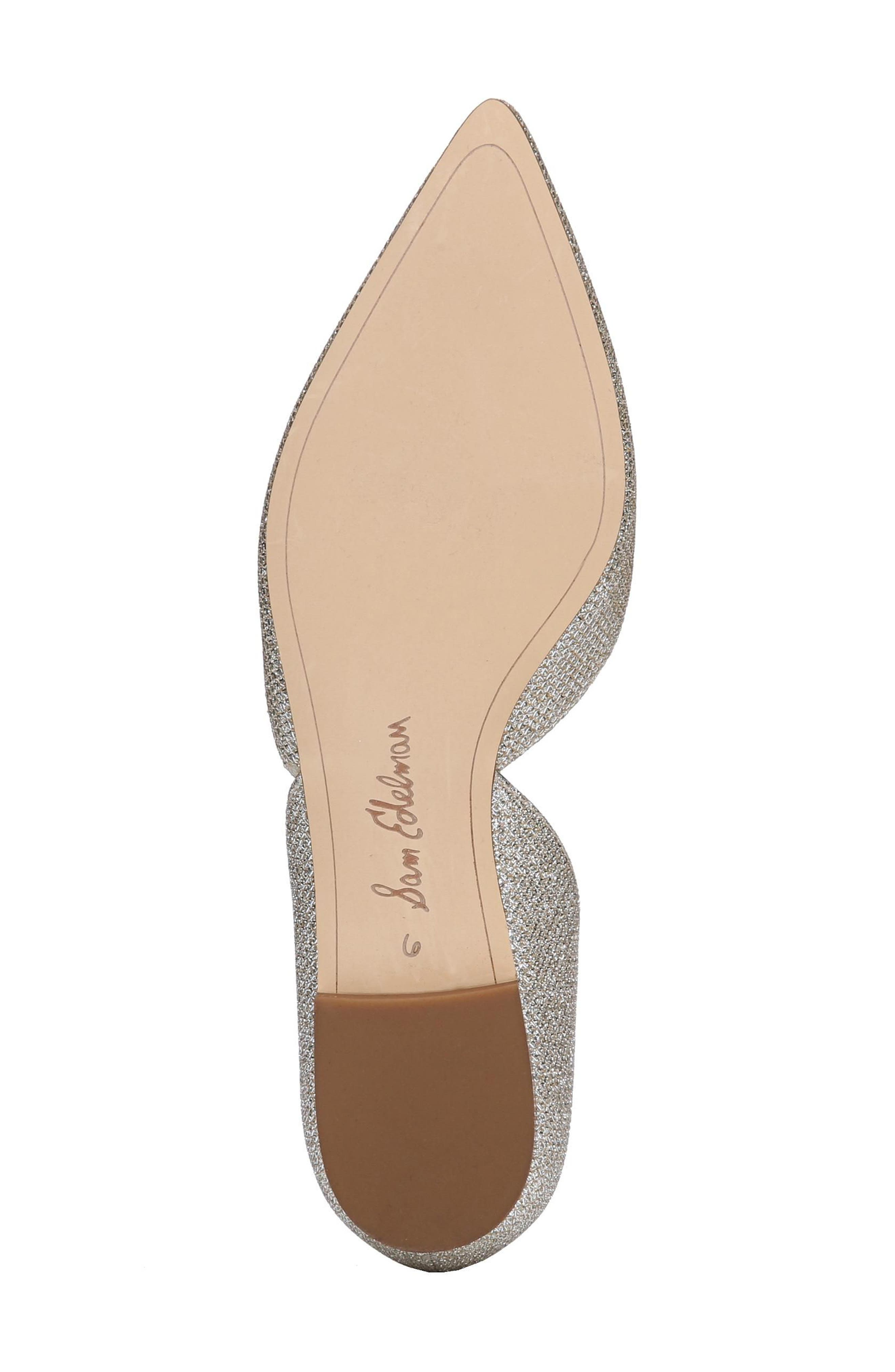 Rodney Pointy Toe d'Orsay Flat,                             Alternate thumbnail 6, color,                             JUTE GLAM FABRIC