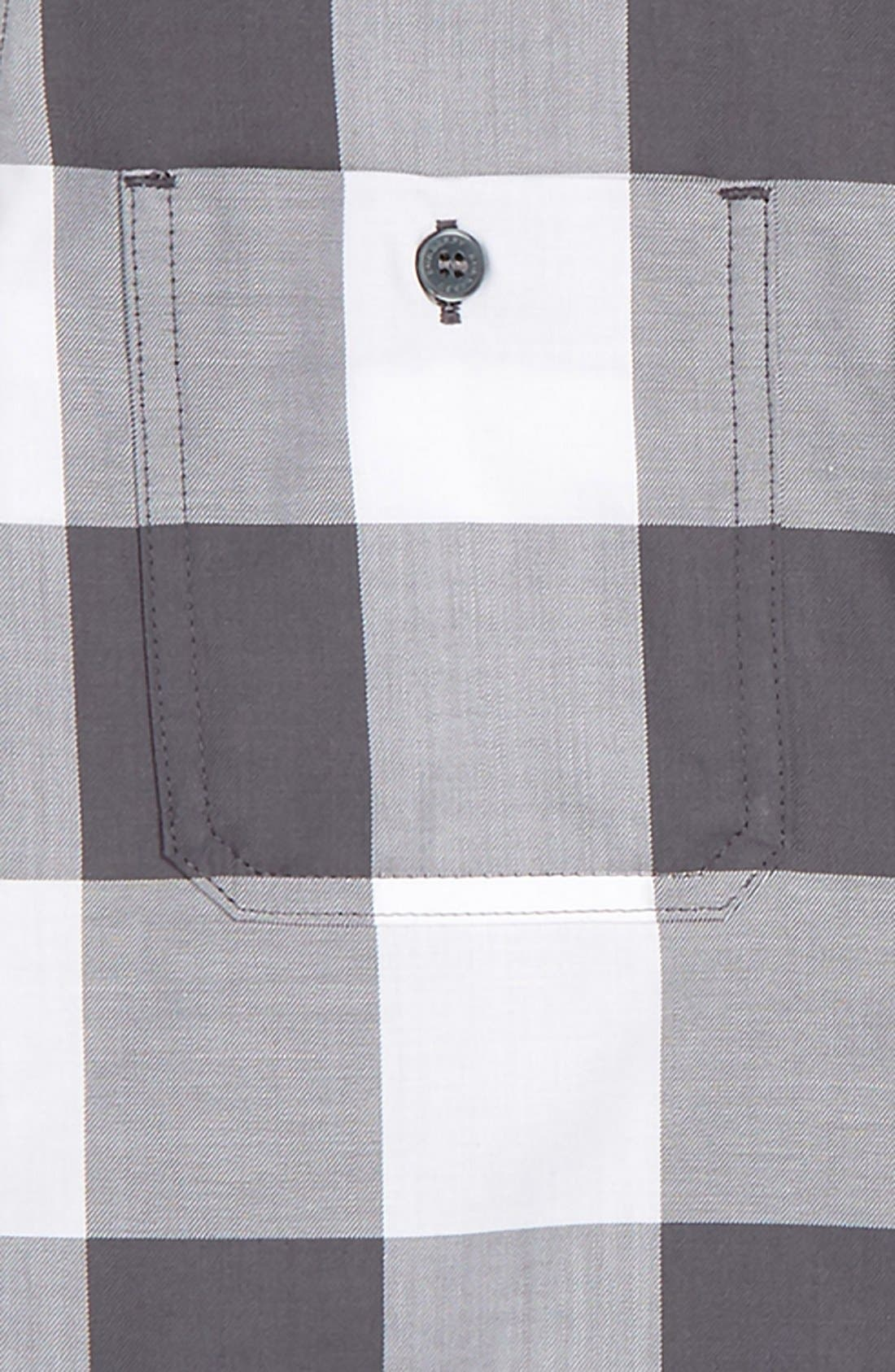 'Mini Camber' Check Long Sleeve Shirt,                             Alternate thumbnail 6, color,