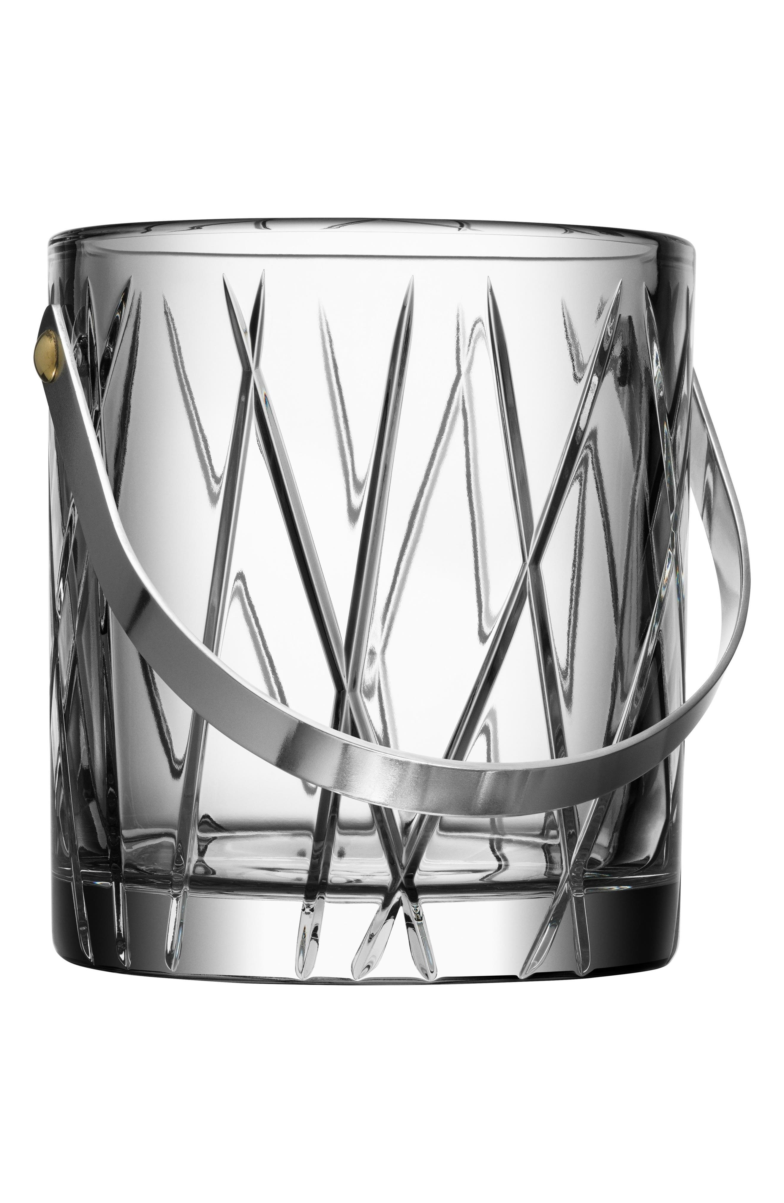 City Crystal Ice Bucket,                             Main thumbnail 1, color,                             100