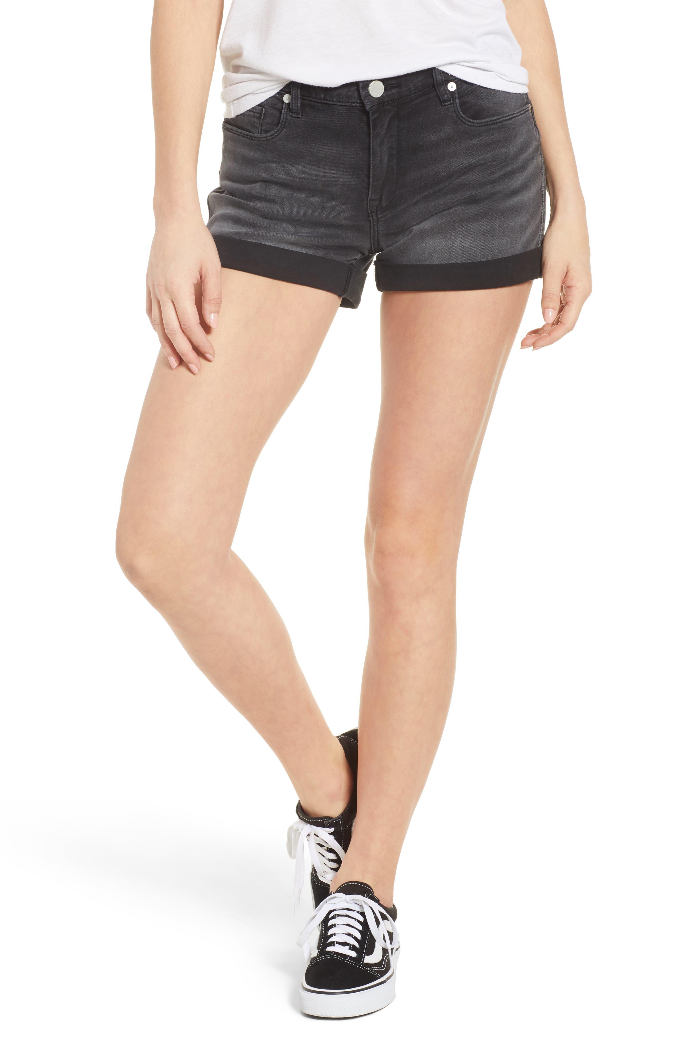 The Fulton Cuff Hem Denim Shorts,                         Main,                         color, 001