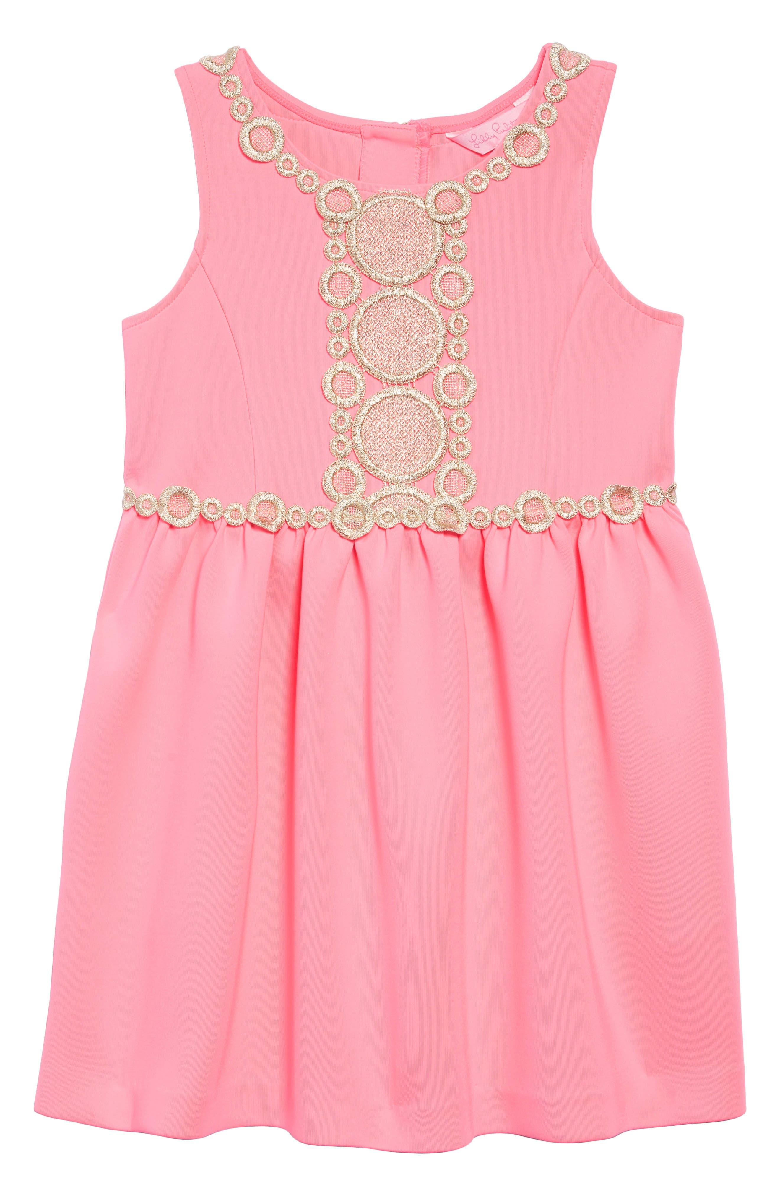 Baylee A-Line Dress,                         Main,                         color, PINK SUNSET