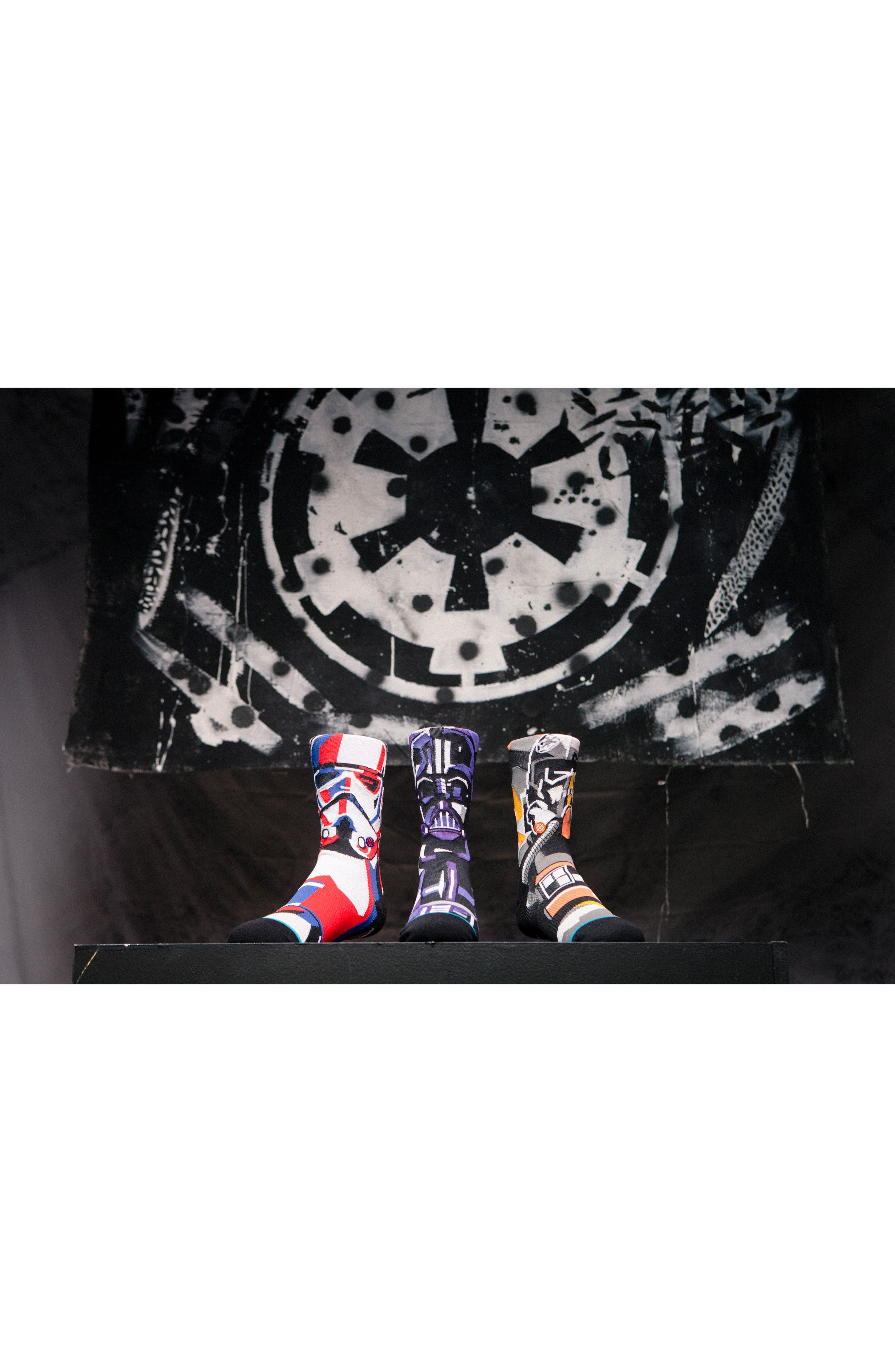 x Star Wars<sup>™</sup> Pilot Mosaic Socks,                             Alternate thumbnail 6, color,