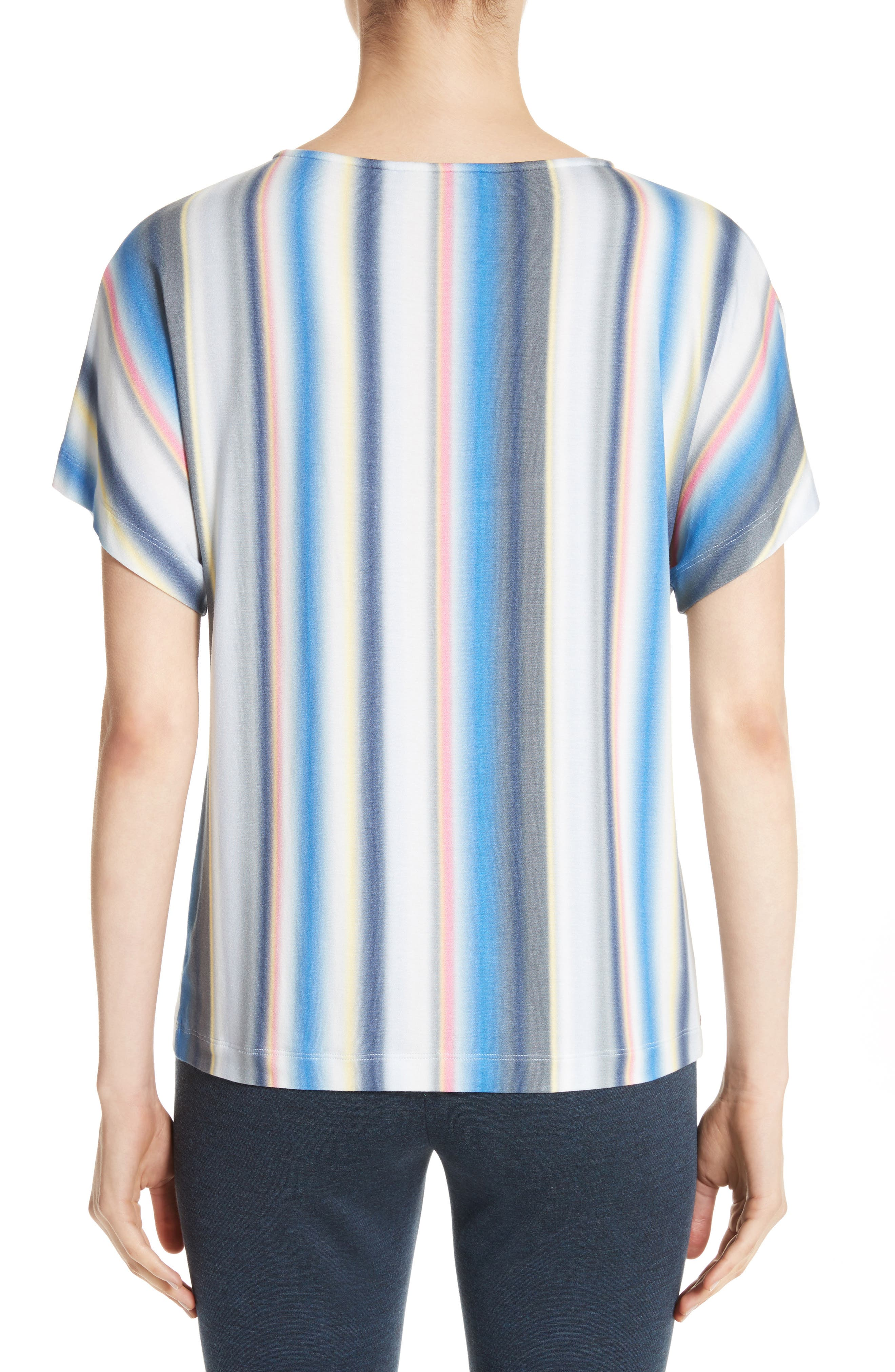 Blurred Stripe Jersey Top,                             Alternate thumbnail 2, color,                             420