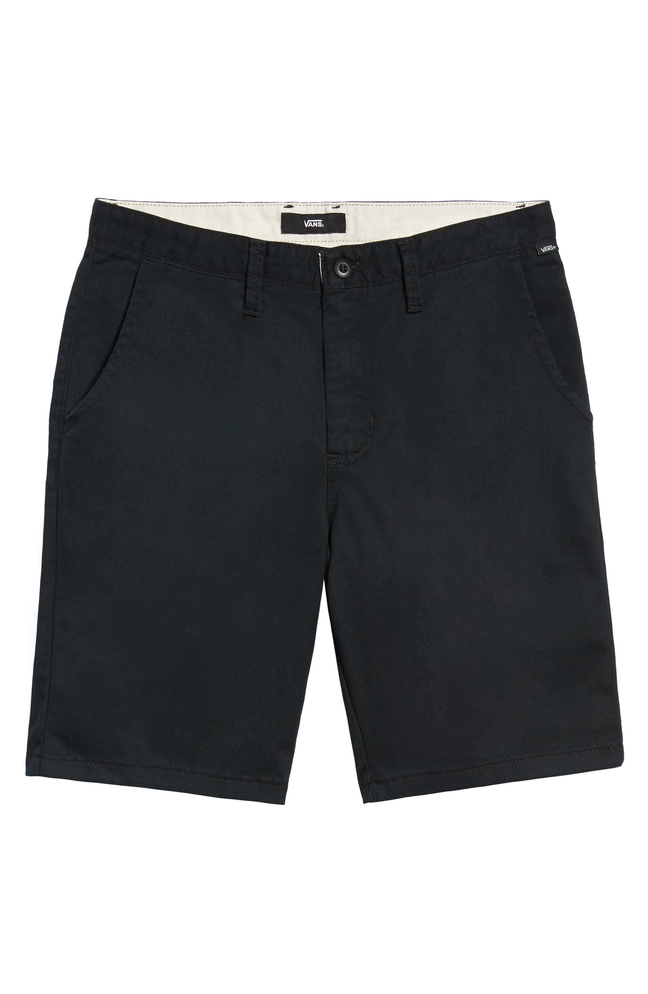 Stretch Twill Chino Shorts,                             Alternate thumbnail 6, color,                             BLACK