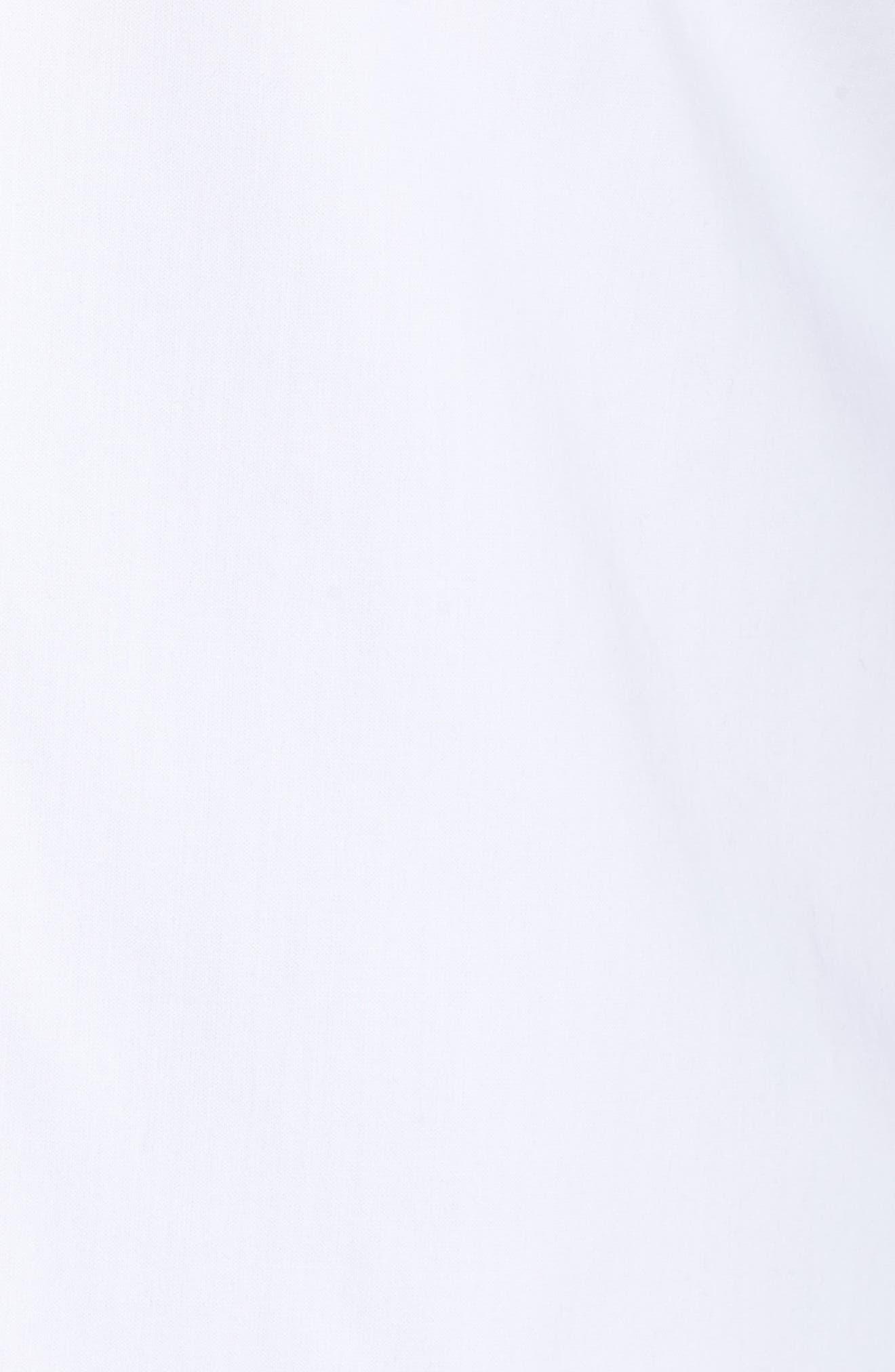 Sleeveless Button Front Top,                             Alternate thumbnail 6, color,                             WHITE