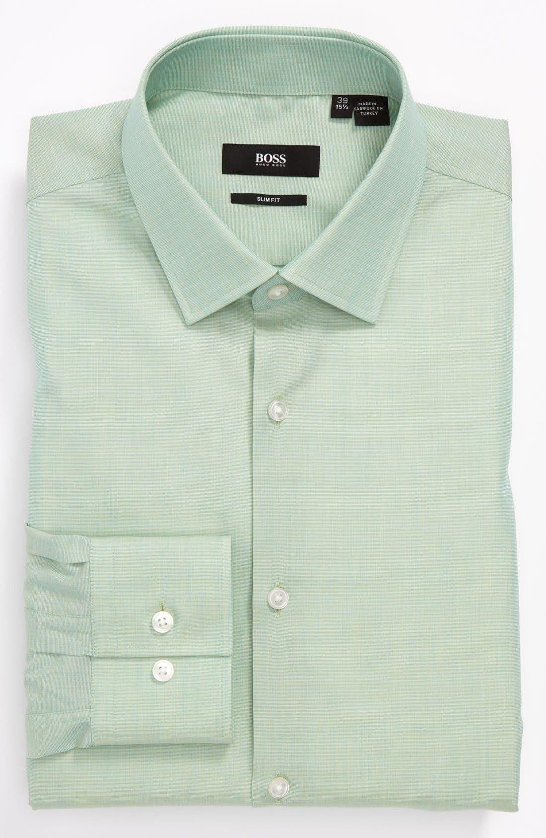HUGO BOSS Slim Fit Dress Shirt,                         Main,                         color, 363