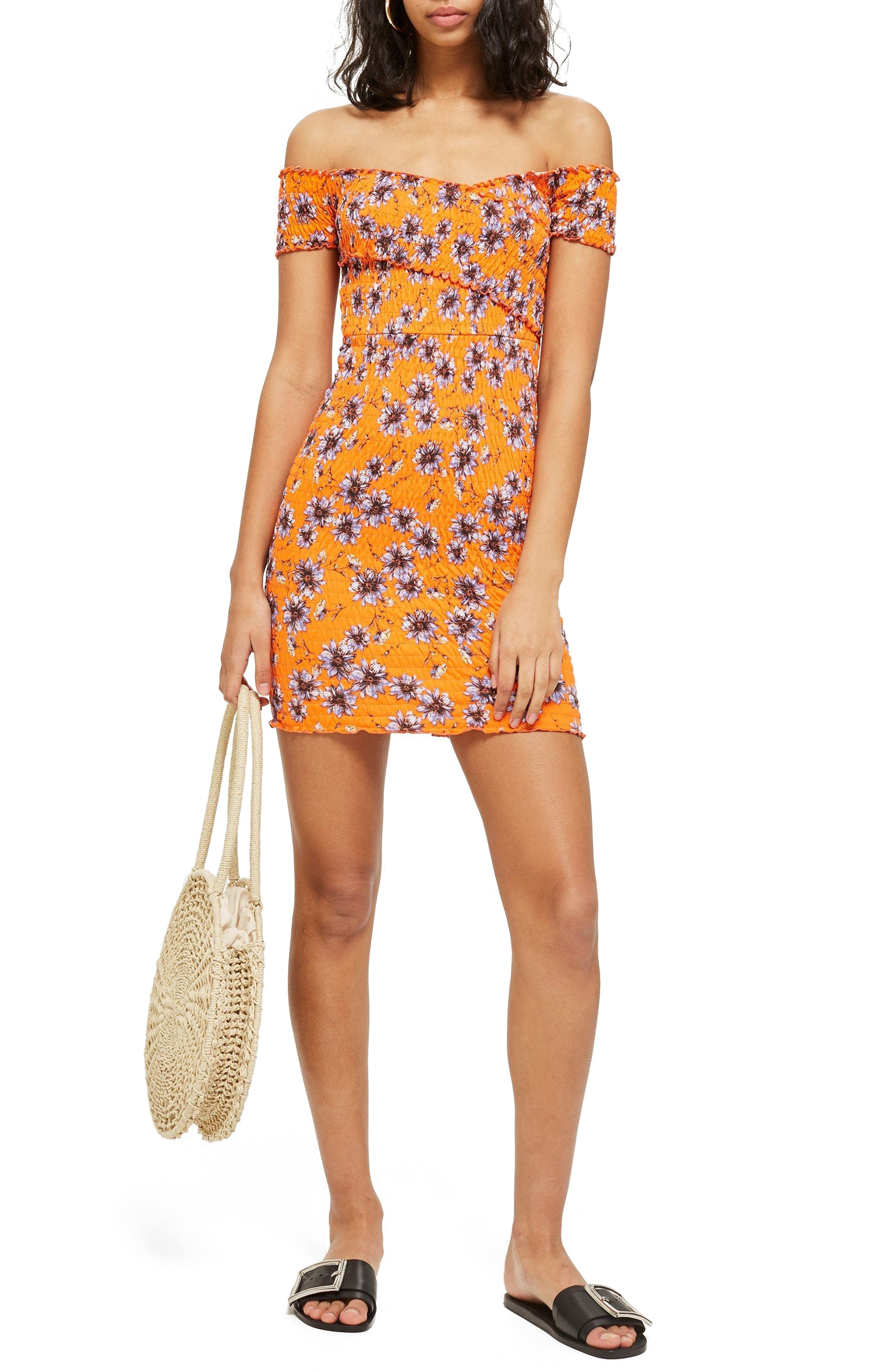 Off the Shoulder Body-Con Dress,                         Main,                         color,