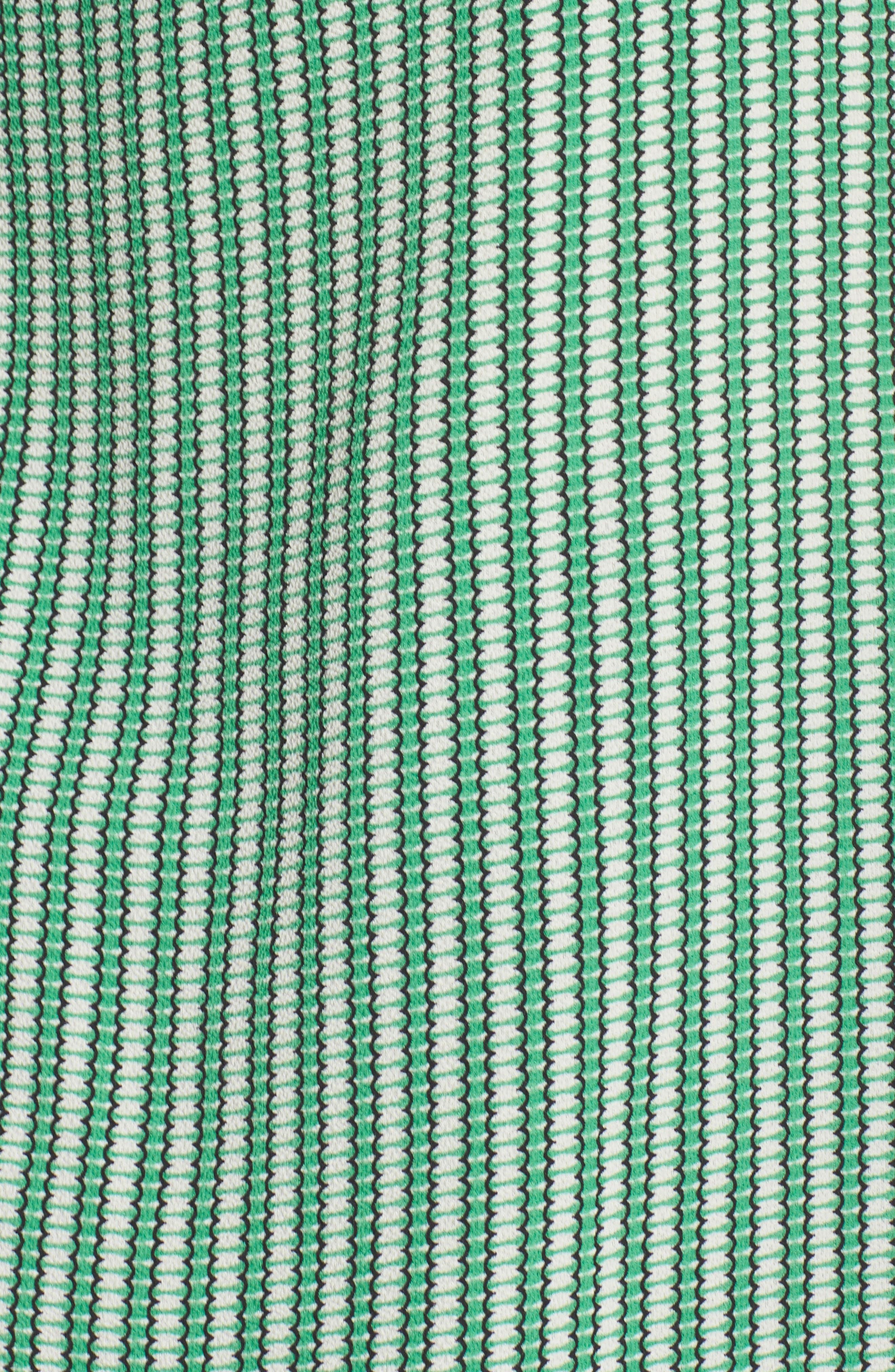 Linear Motion Print Long Sleeve Tunic,                             Alternate thumbnail 5, color,                             EMERALD LEAF