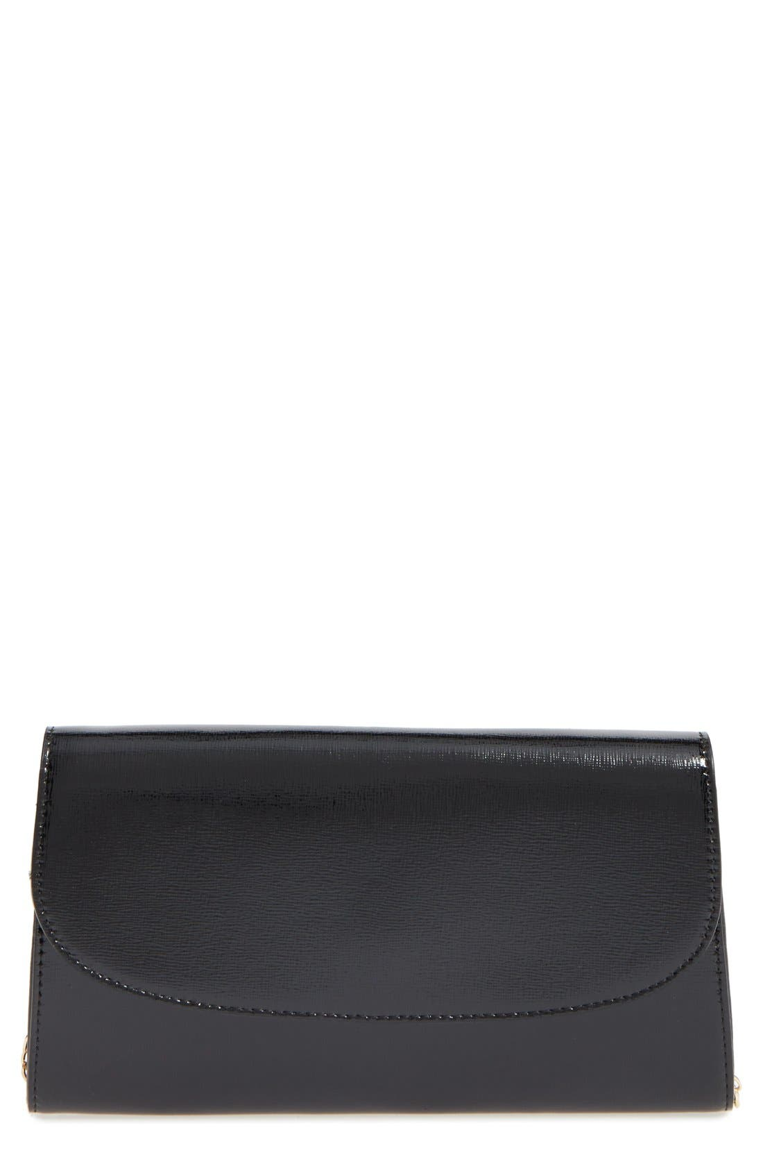 Leather Clutch,                             Main thumbnail 2, color,