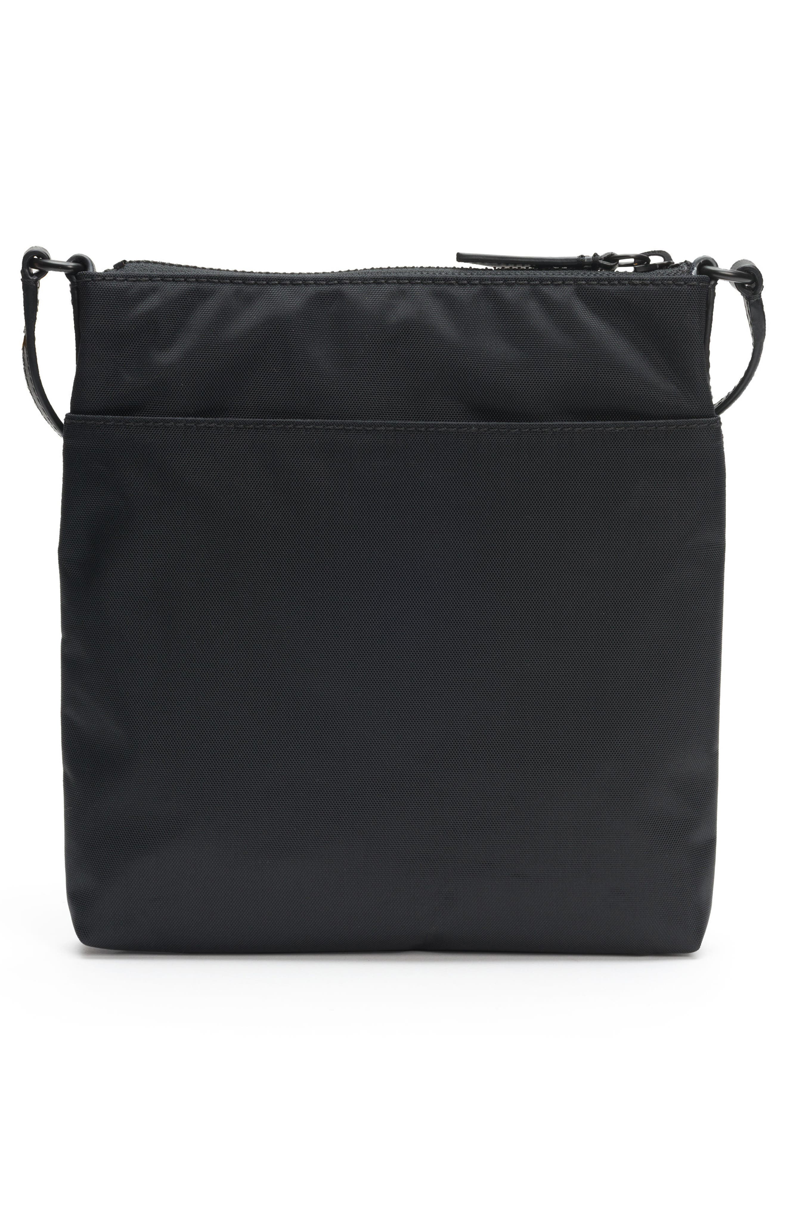 Ivy Nylon Crossbody Bag,                             Alternate thumbnail 3, color,                             MATTE BLACK
