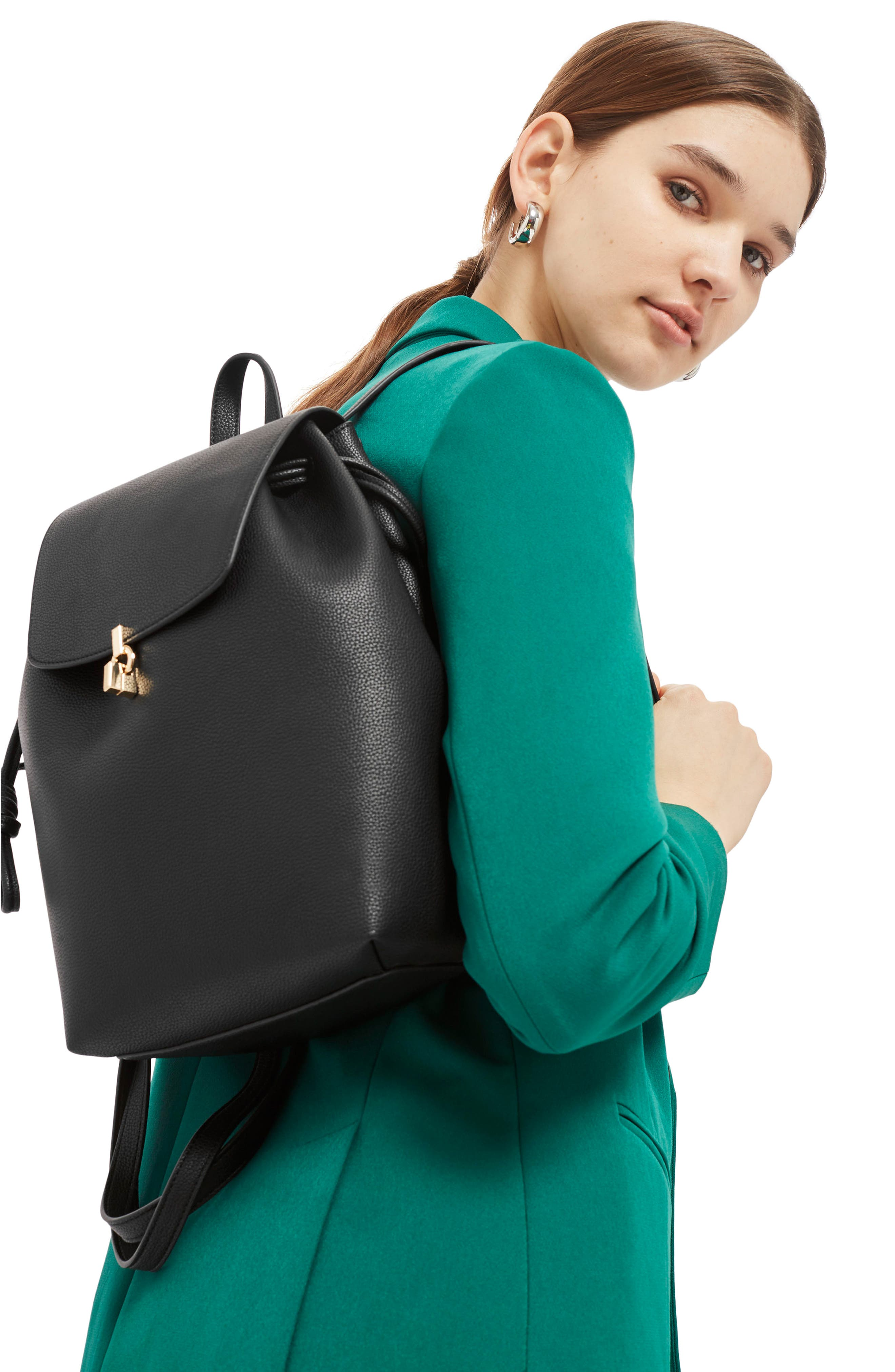 Lucy Metal Tab Backpack,                             Alternate thumbnail 2, color,                             001