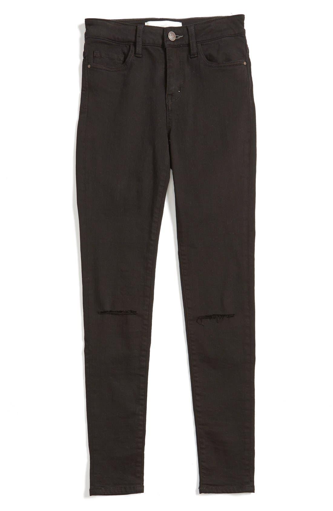Treasure&Bond High Rise Skinny Jeans,                         Main,                         color, 001