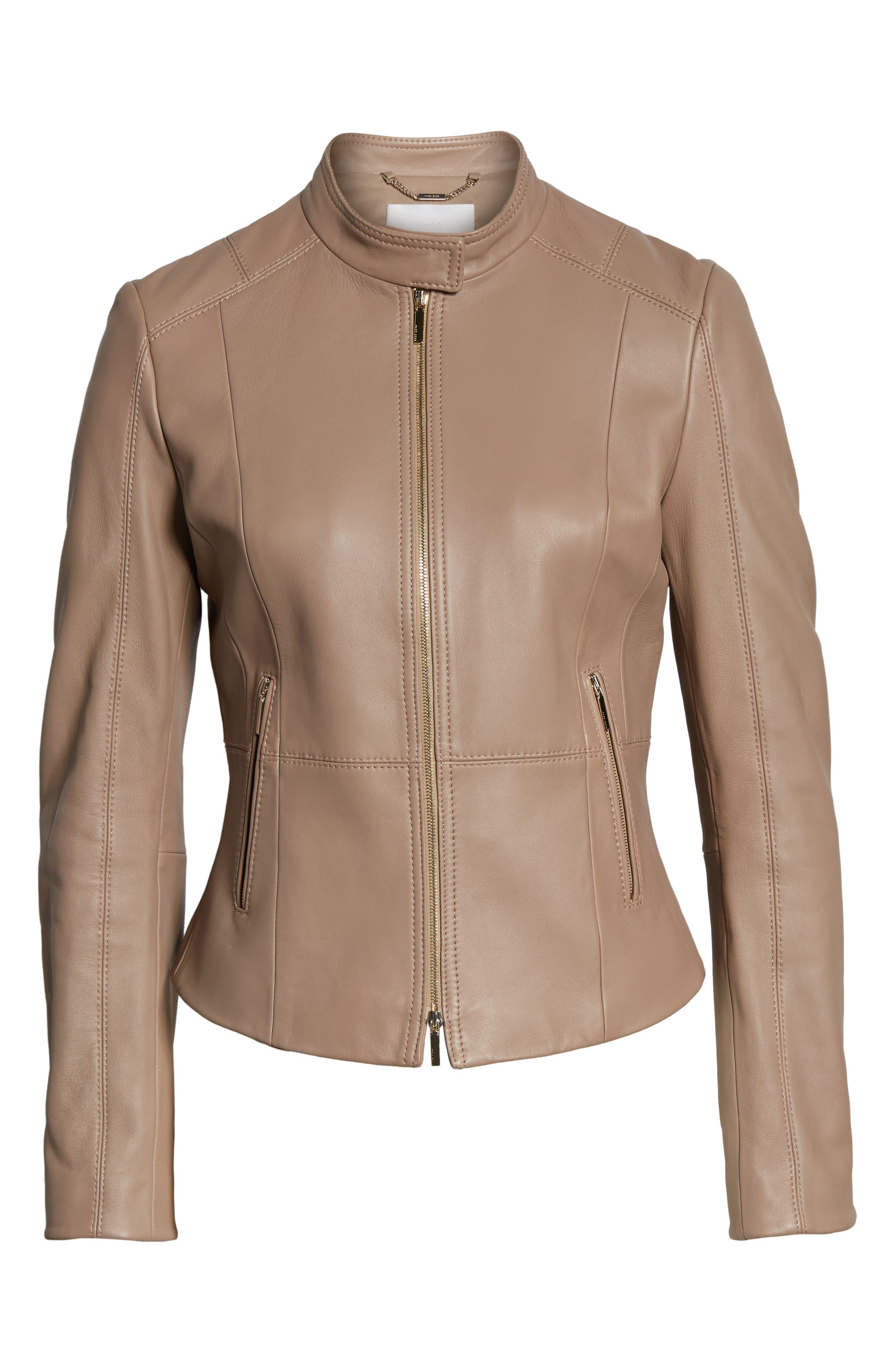 Sammonaie Leather Jacket,                             Alternate thumbnail 8, color,