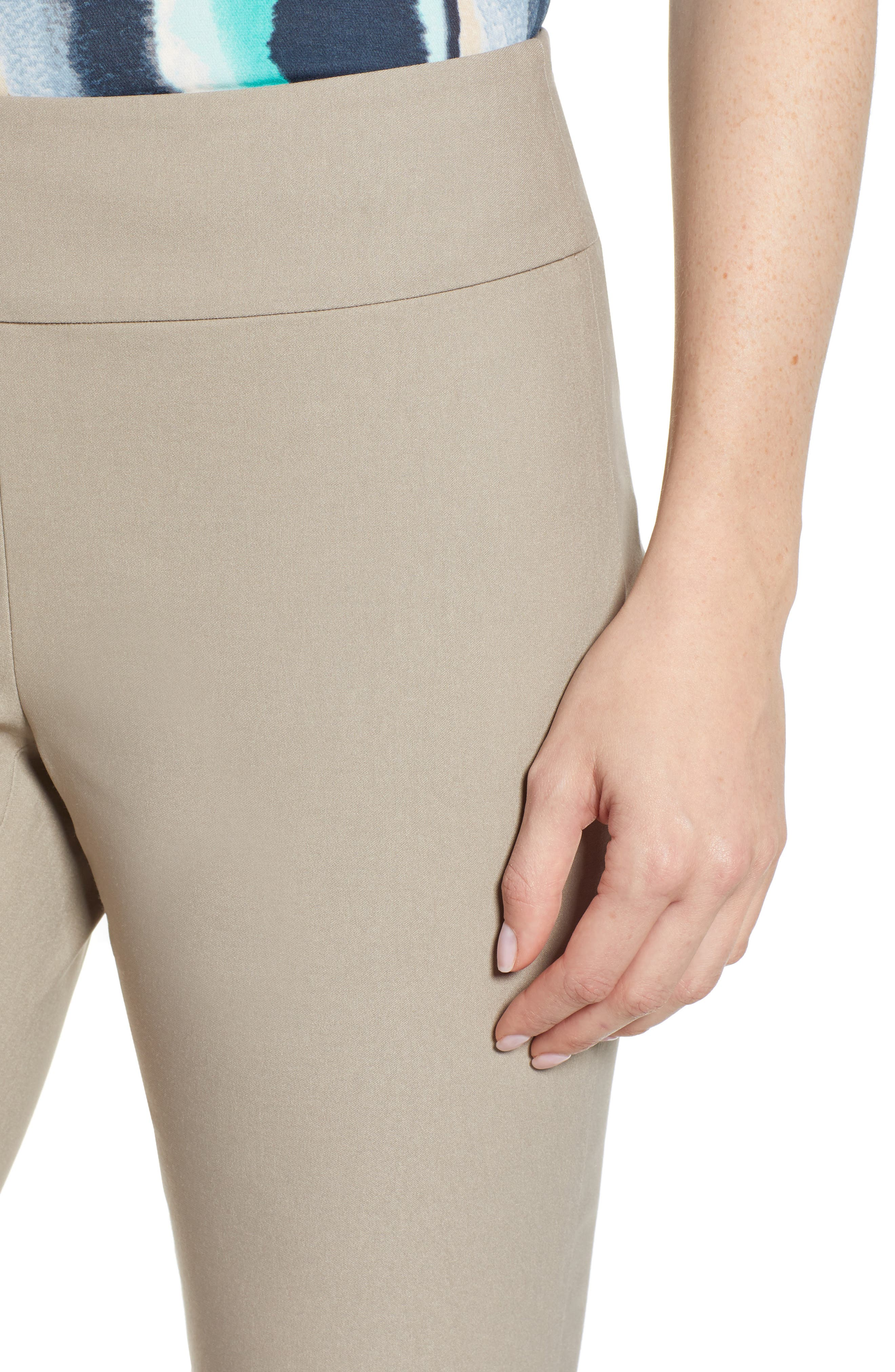 Wonderstretch Straight Leg Pants,                             Alternate thumbnail 4, color,                             LATTE