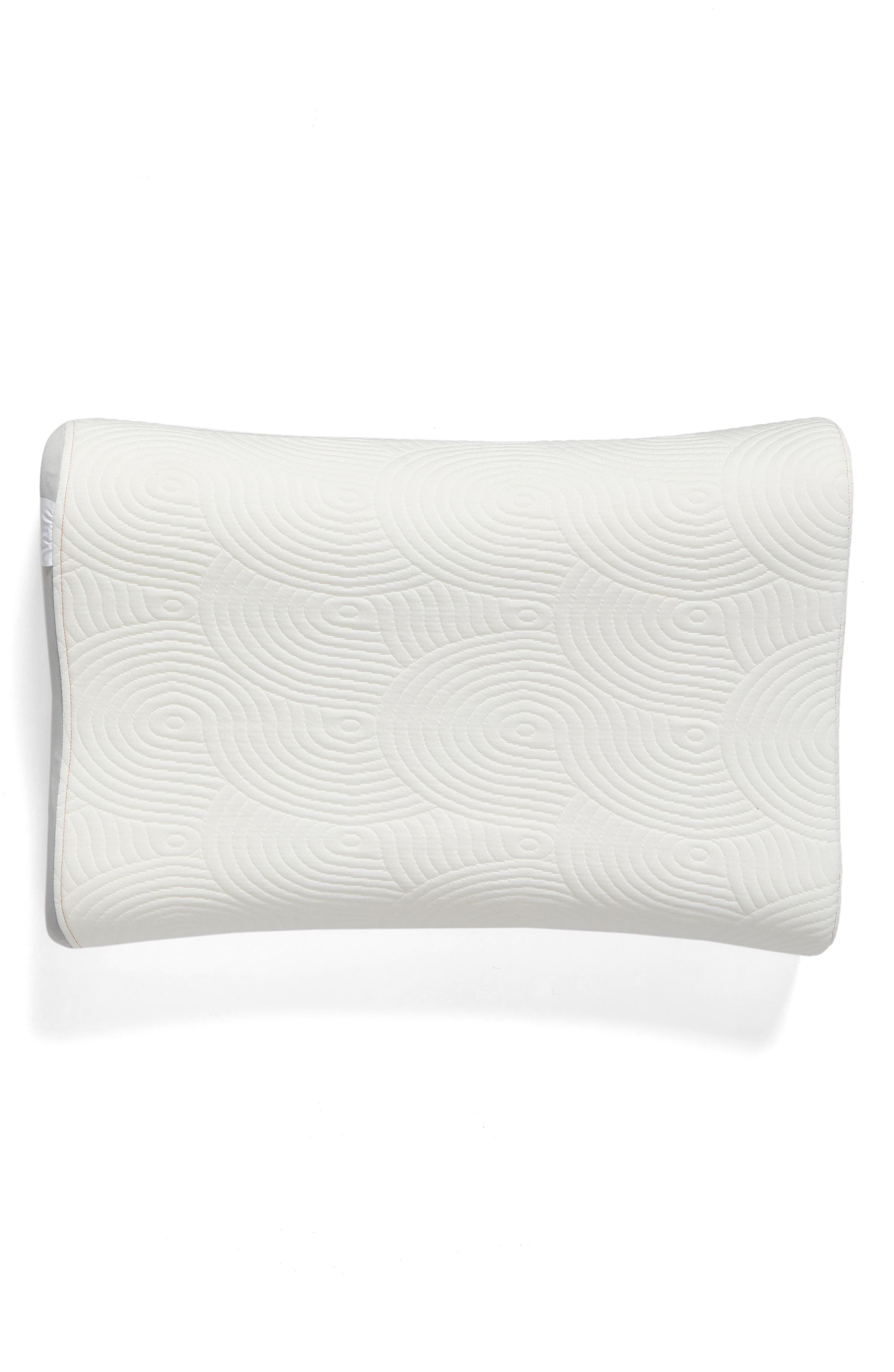 TEMPUR-Contour Side-to-Side Pillow,                             Main thumbnail 1, color,                             WHITE