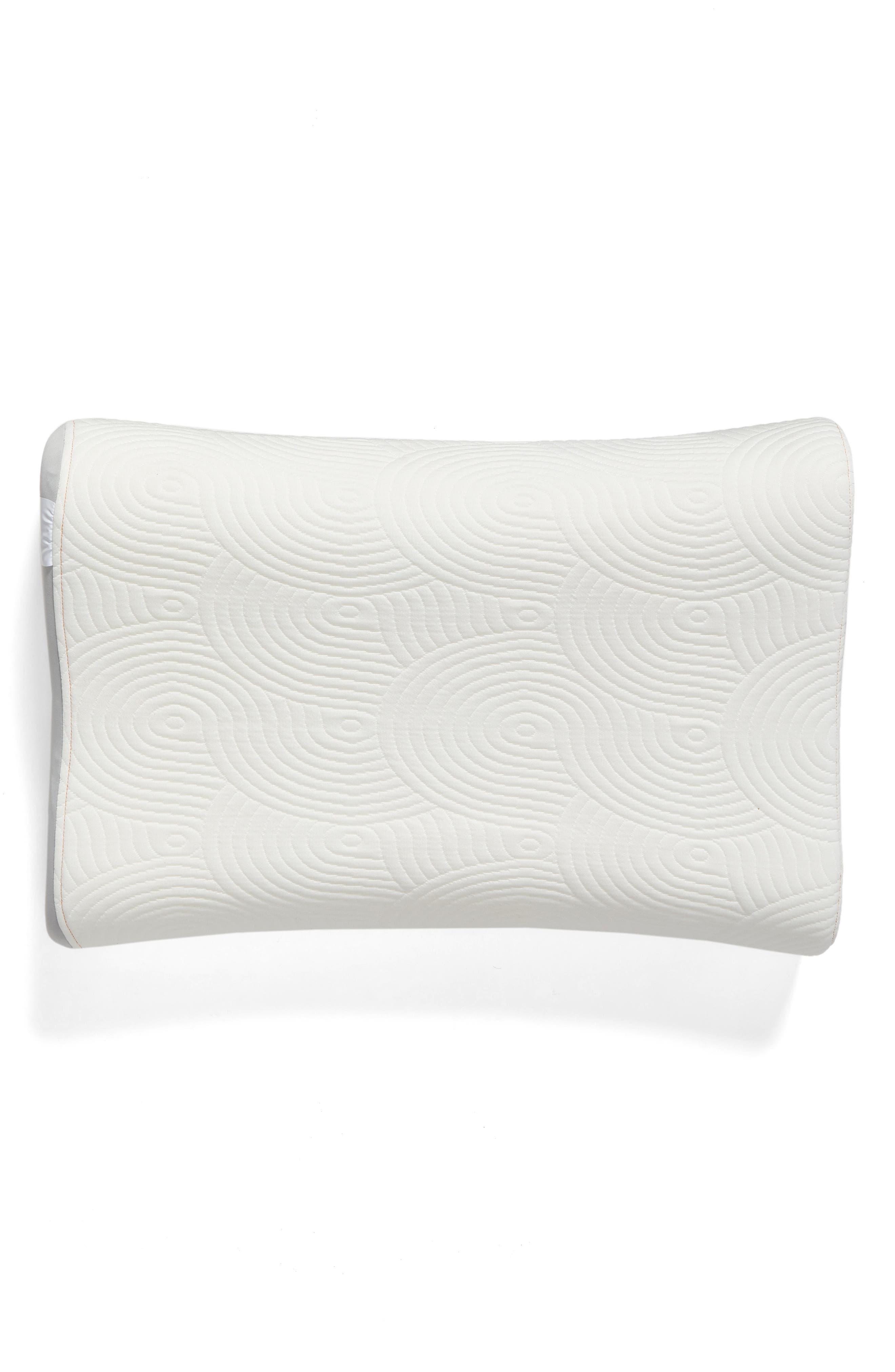 TEMPUR-Contour Side-to-Side Pillow,                         Main,                         color, WHITE