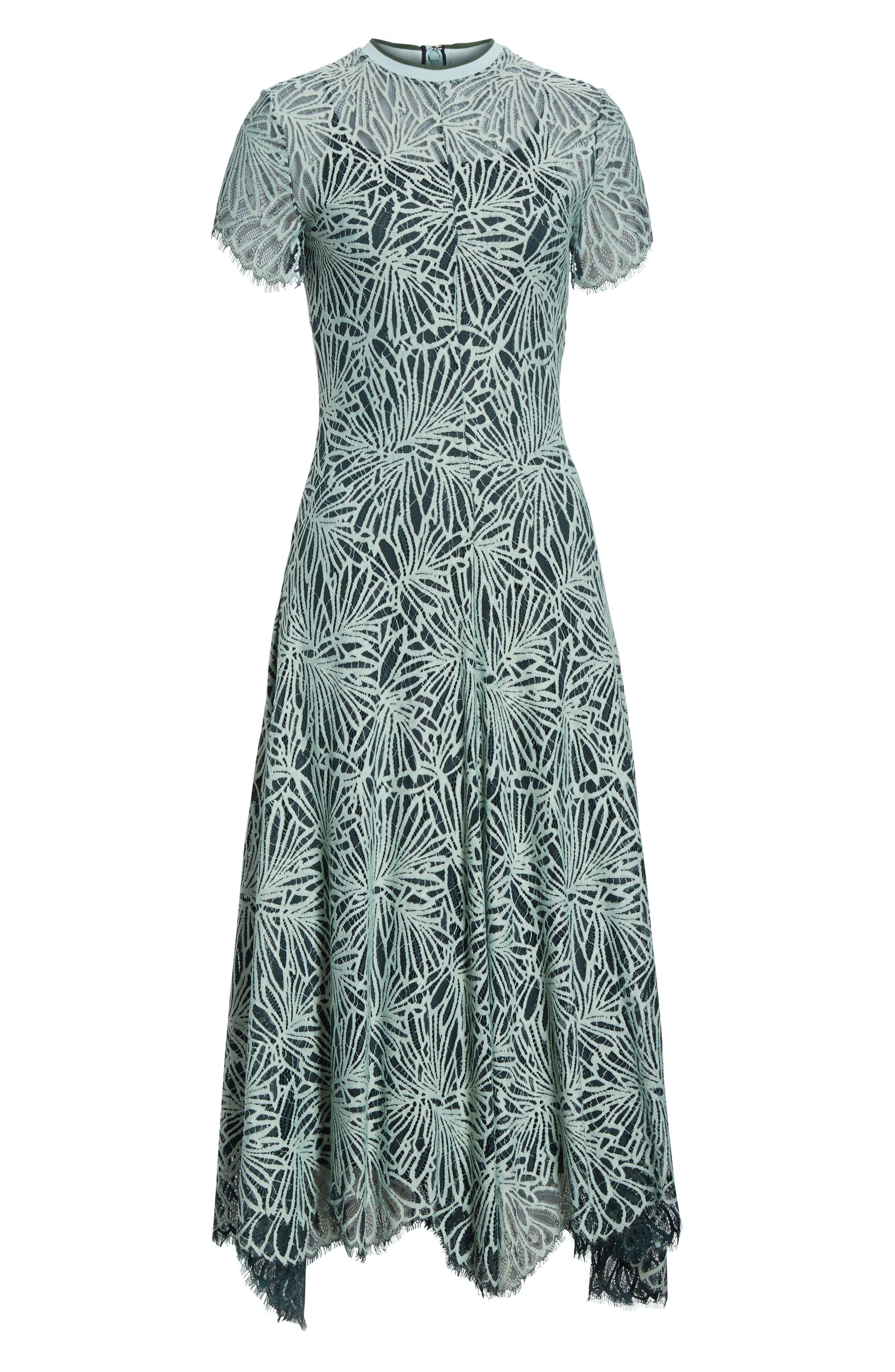 Stretch Lace Dress,                             Alternate thumbnail 7, color,                             SPEARMINT