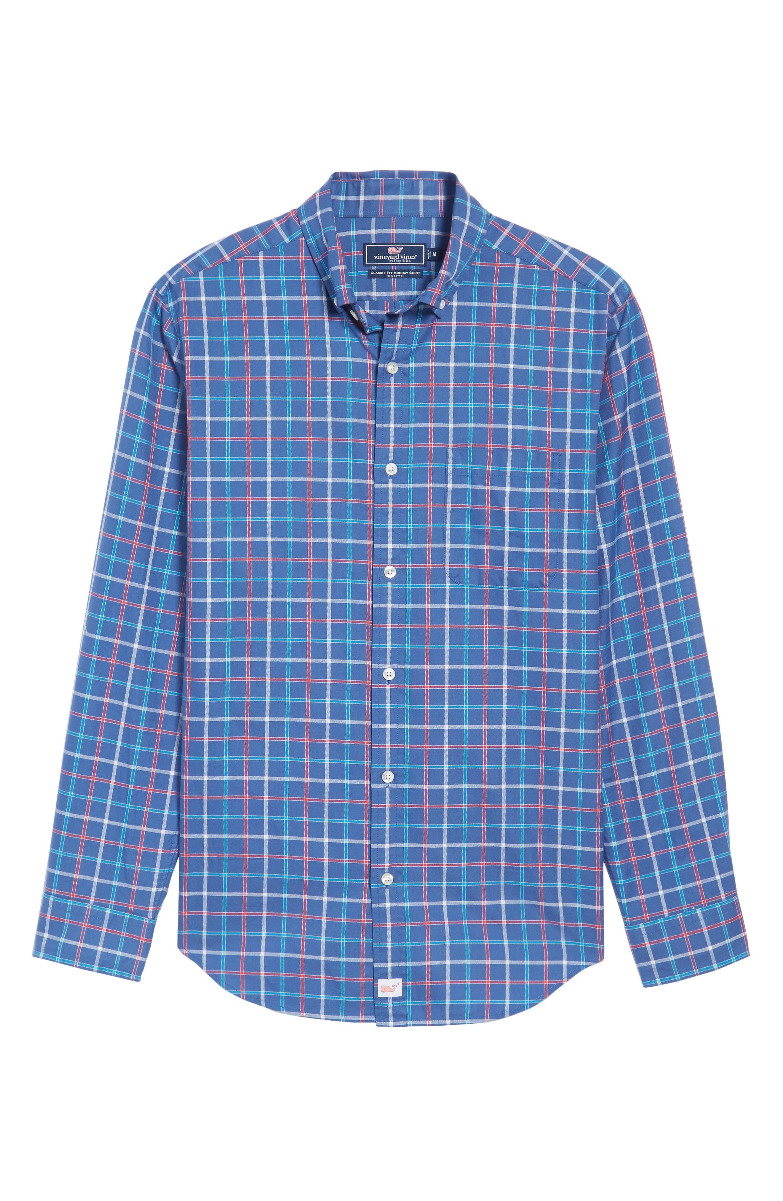 Classic Fit Murray Jade Cove Check Sport Shirt,                             Alternate thumbnail 6, color,